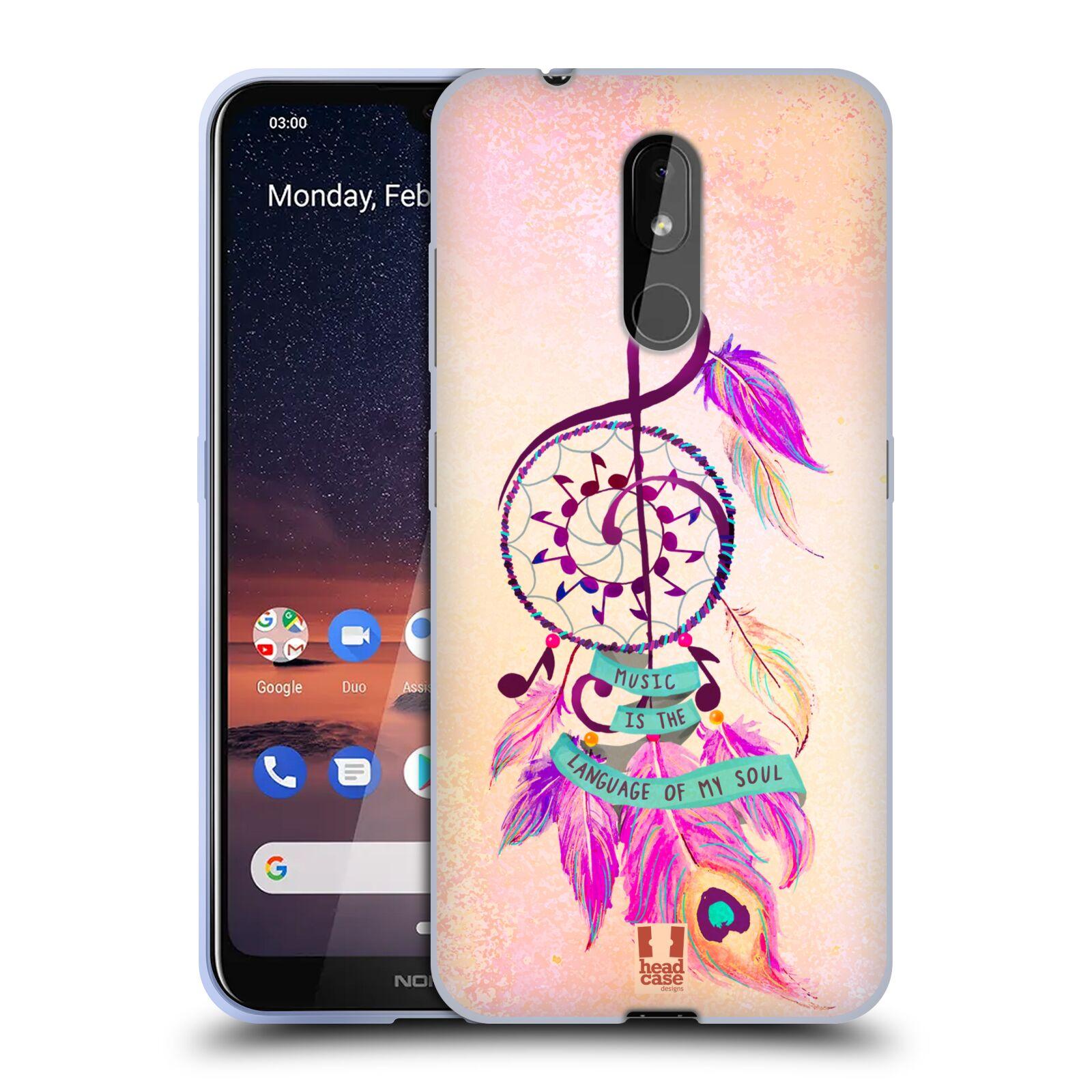 Silikonové pouzdro na mobil Nokia 3.2 - Head Case - Lapač Assorted Music
