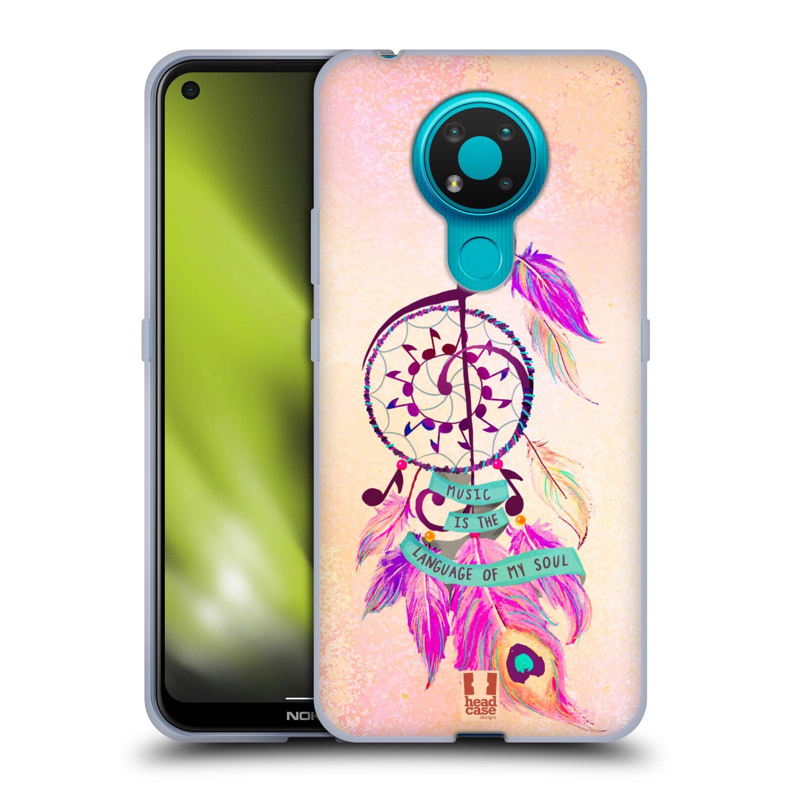 Silikonové pouzdro na mobil Nokia 3.4 - Head Case - Lapač Assorted Music