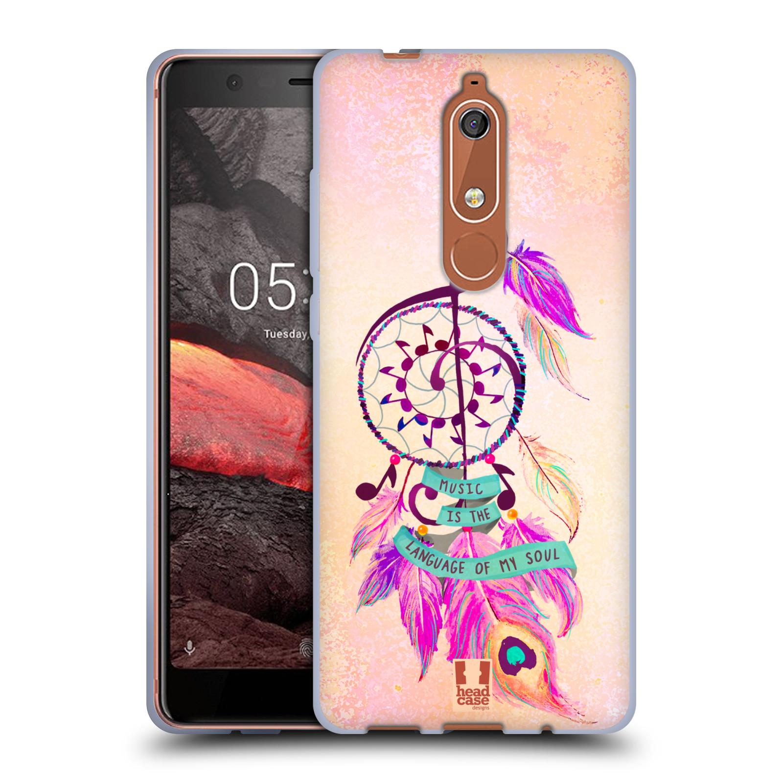Silikonové pouzdro na mobil Nokia 5.1 - Head Case - Lapač Assorted Music