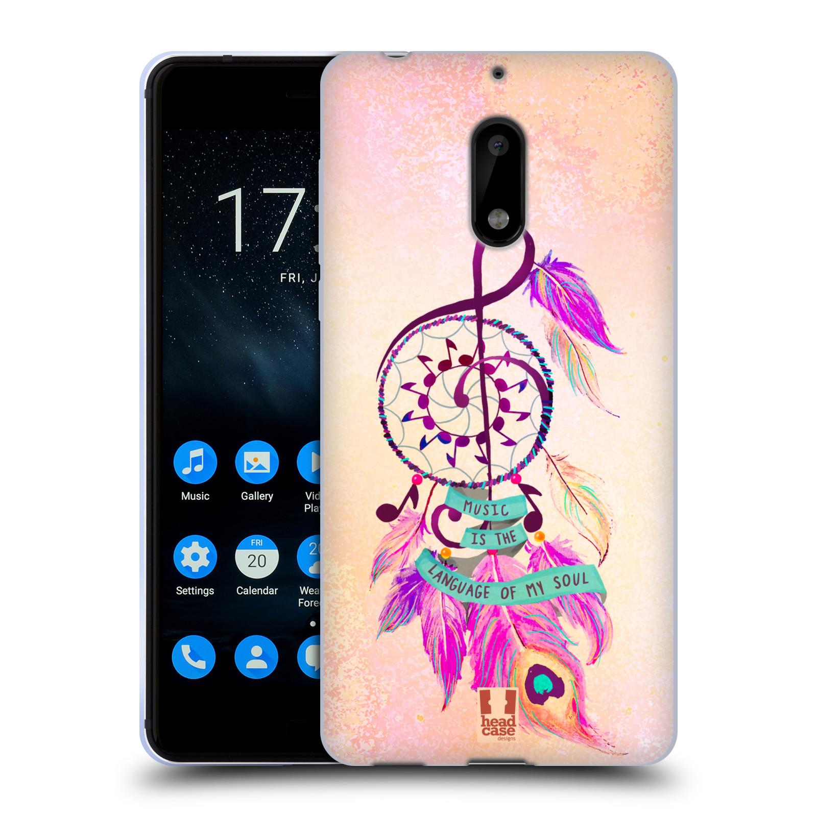 Silikonové pouzdro na mobil Nokia 6 - Head Case - Lapač Assorted Music