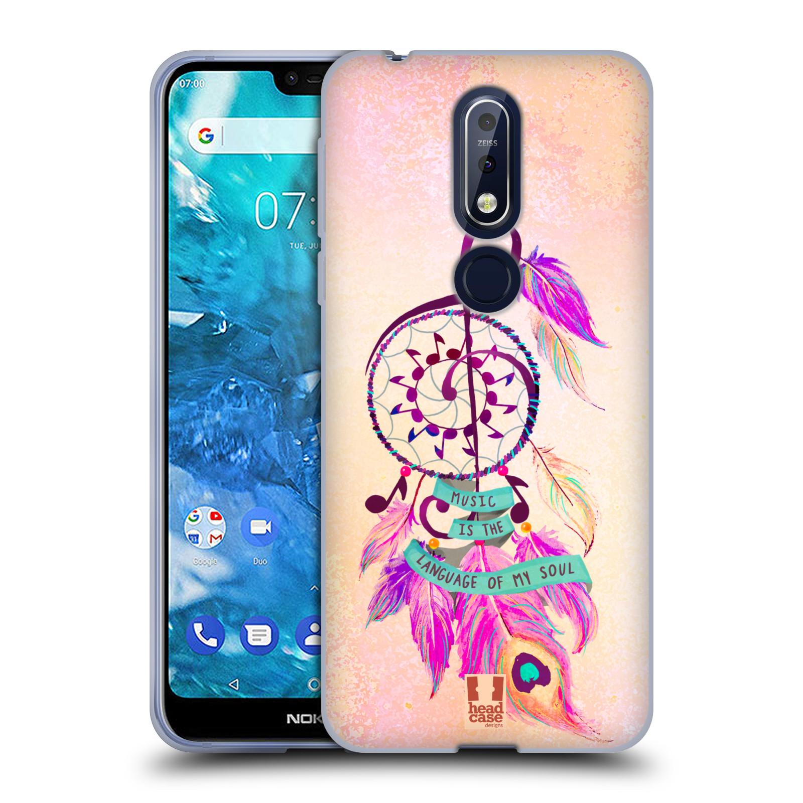Silikonové pouzdro na mobil Nokia 7.1 - Head Case - Lapač Assorted Music