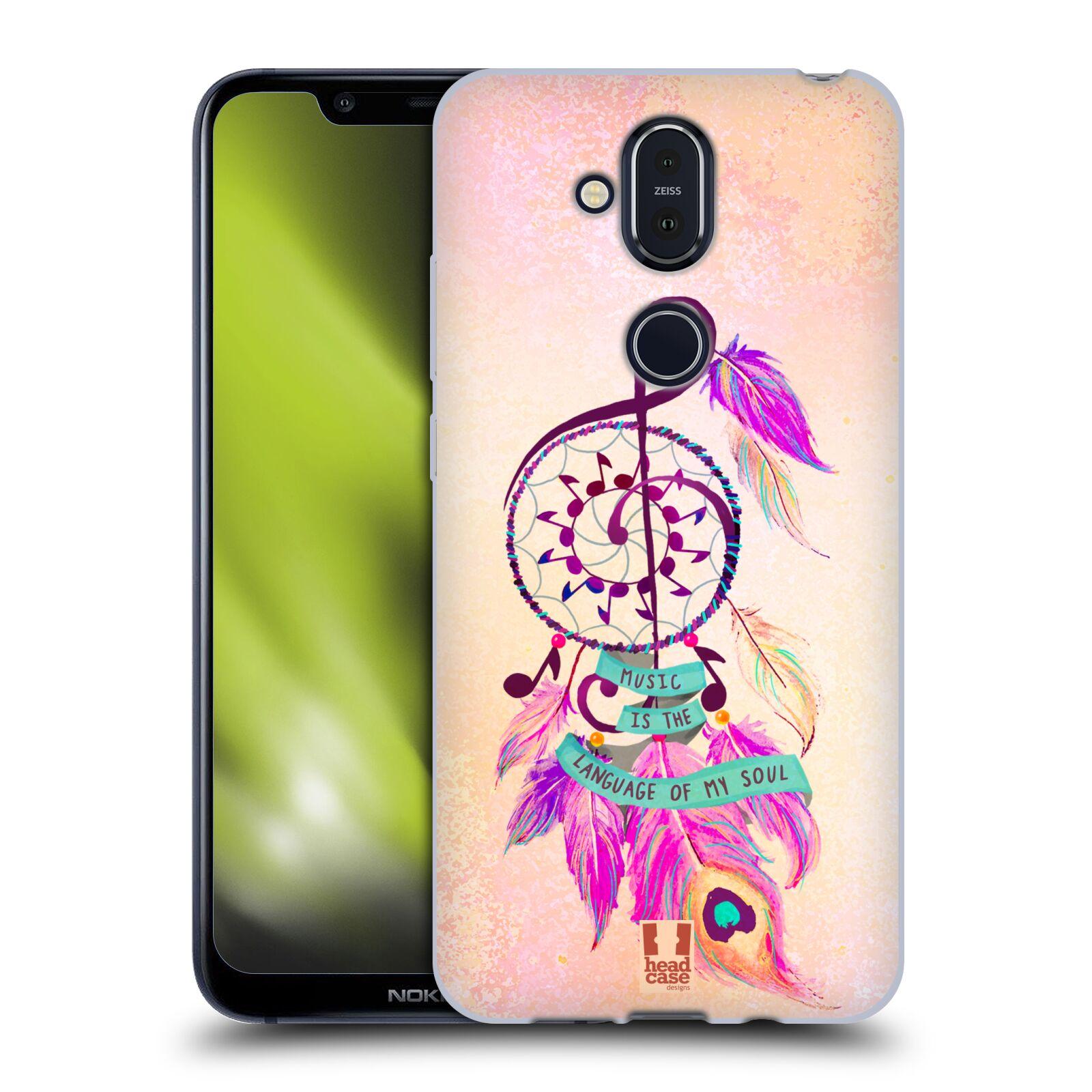 Silikonové pouzdro na mobil Nokia 8.1 - Head Case - Lapač Assorted Music