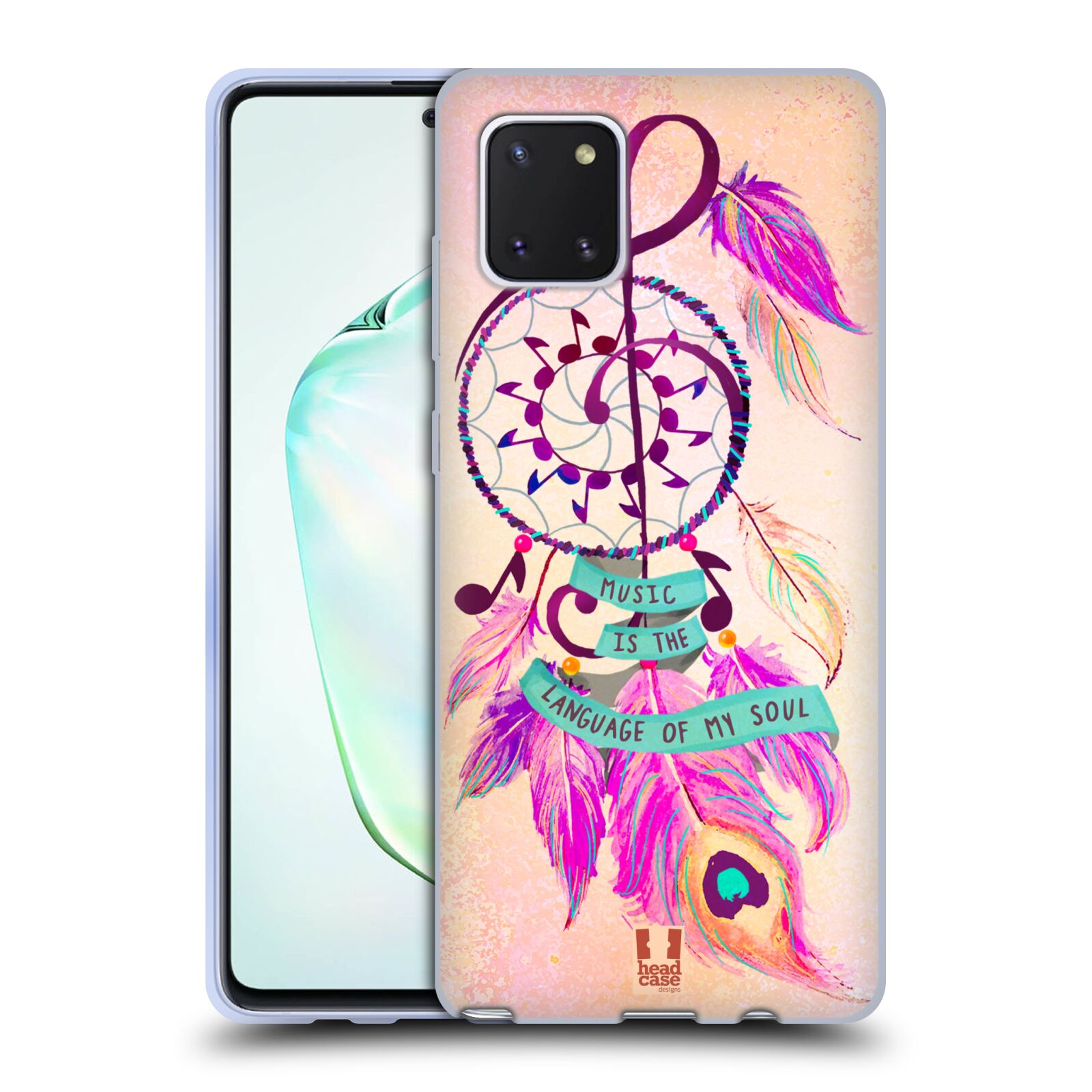 Silikonové pouzdro na mobil Samsung Galaxy Note 10 Lite - Head Case - Lapač Assorted Music