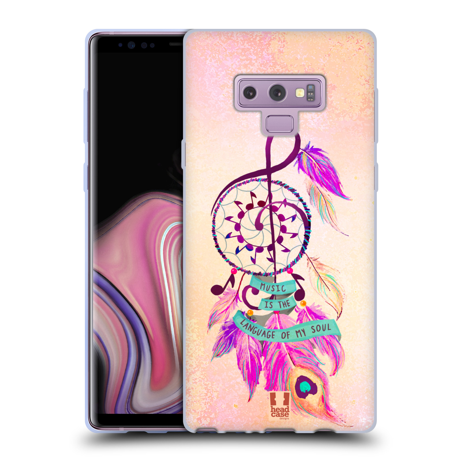 Silikonové pouzdro na mobil Samsung Galaxy Note 9 - Head Case - Lapač Assorted Music