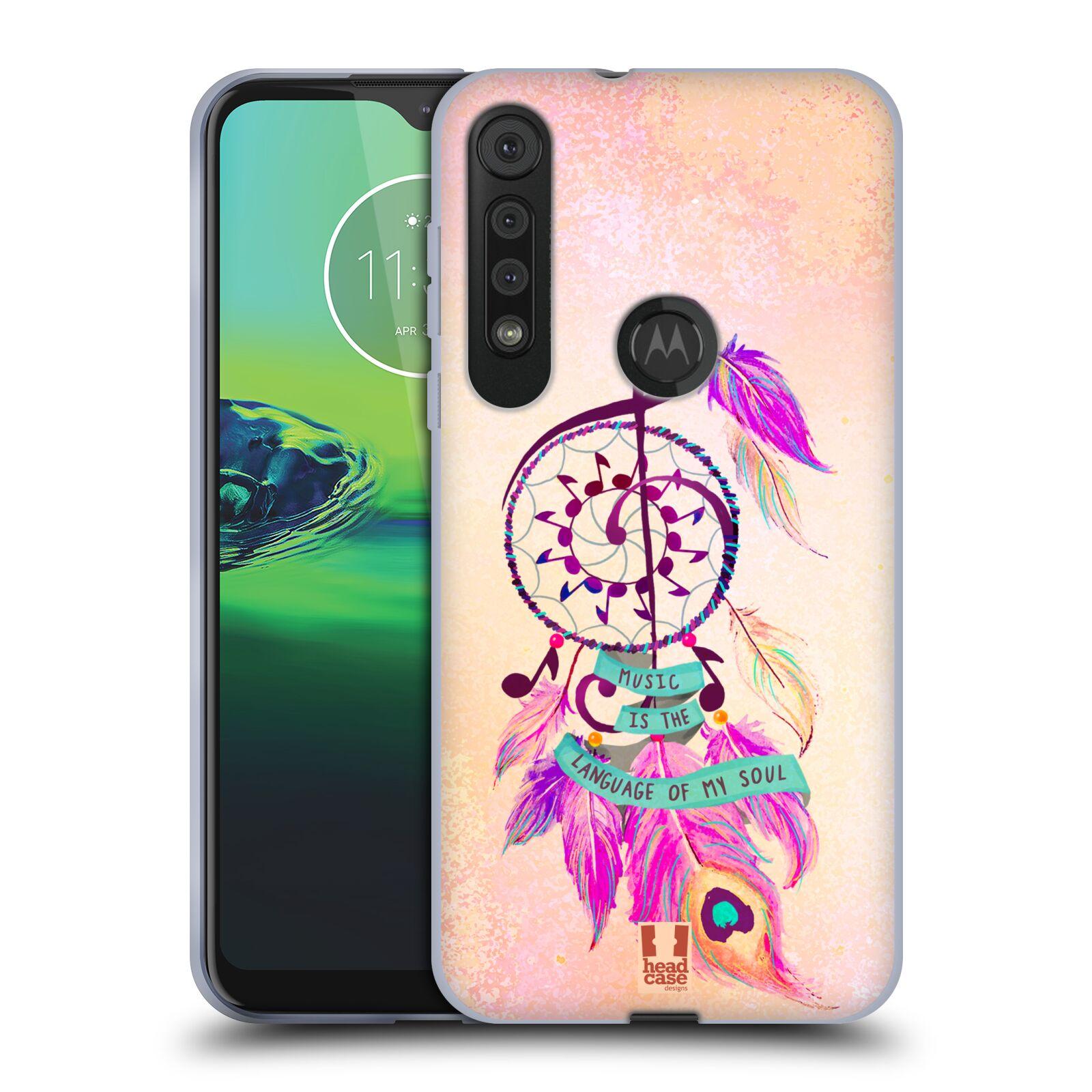 Silikonové pouzdro na mobil Motorola One Macro - Head Case - Lapač Assorted Music