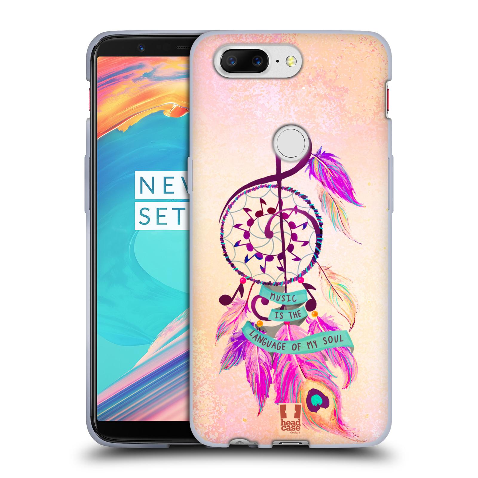 Silikonové pouzdro na mobil OnePlus 5T - Head Case - Lapač Assorted Music