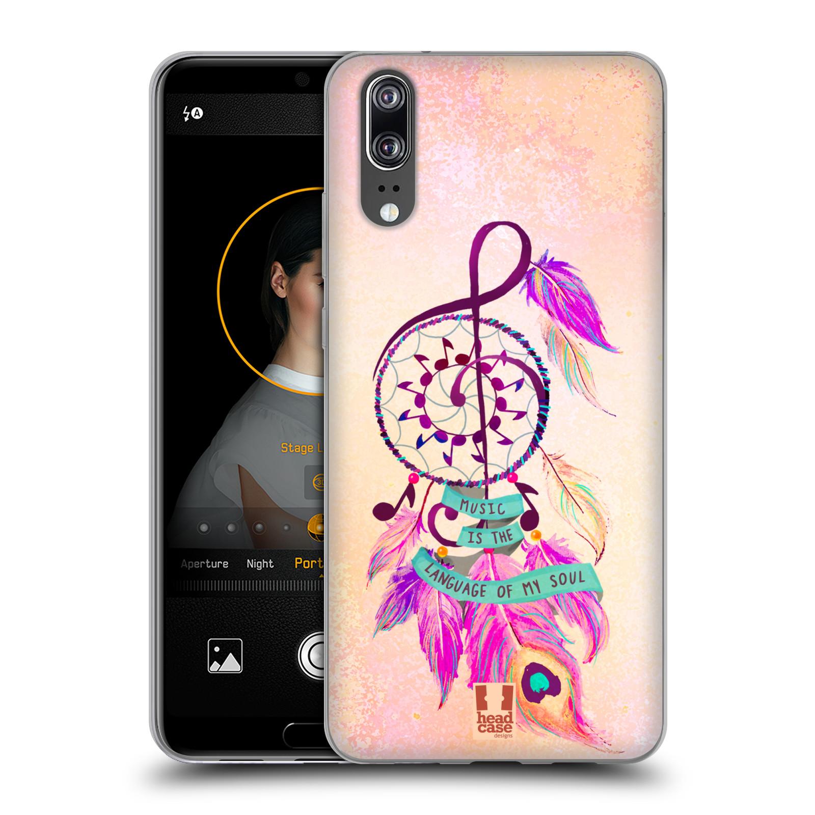 Silikonové pouzdro na mobil Huawei P20 - Head Case - Lapač Assorted Music