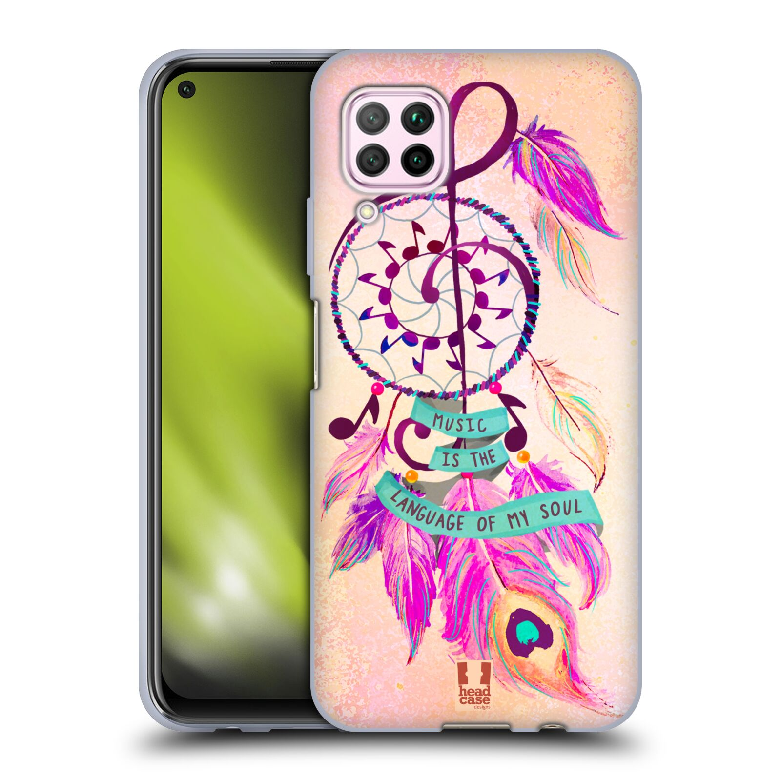 Silikonové pouzdro na mobil Huawei P40 Lite - Head Case - Lapač Assorted Music