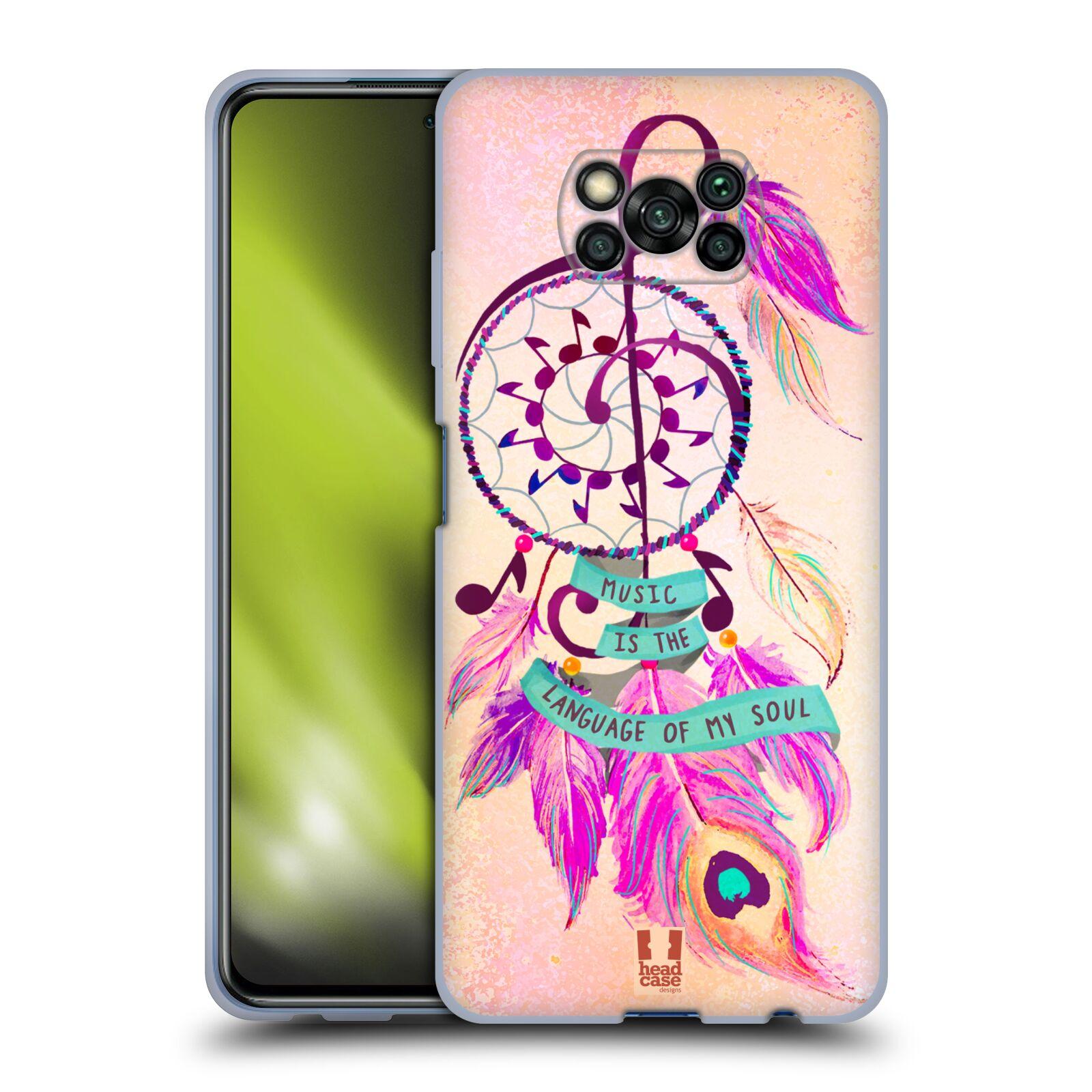 Silikonové pouzdro na mobil Xiaomi Poco X3 NFC - Head Case - Lapač Assorted Music