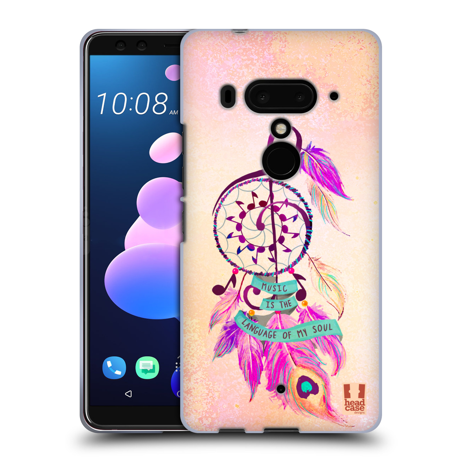 Silikonové pouzdro na mobil HTC U12 Plus - Head Case - Lapač Assorted Music