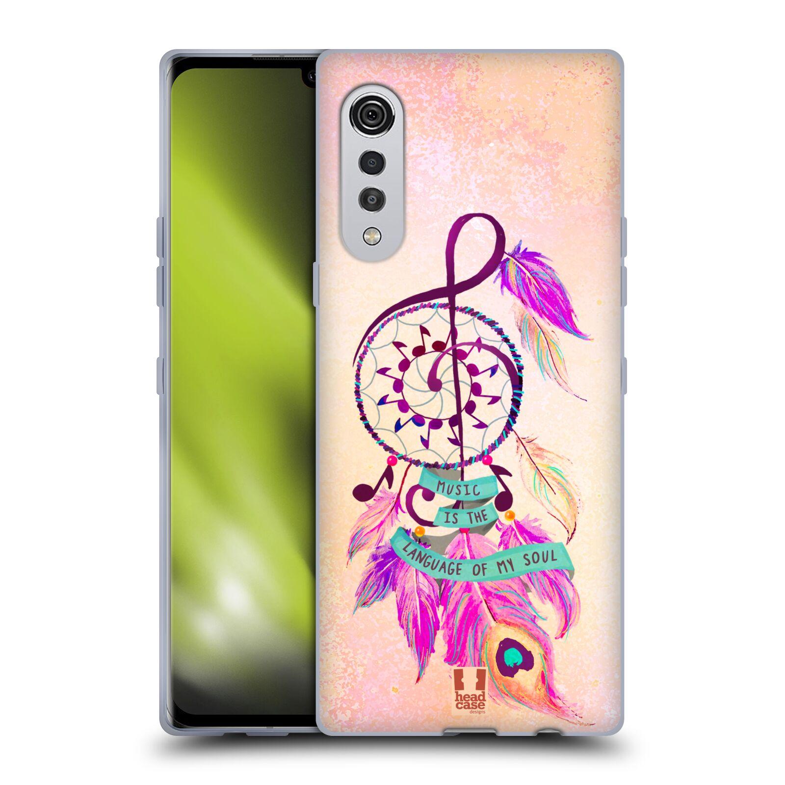 Silikonové pouzdro na mobil LG Velvet - Head Case - Lapač Assorted Music