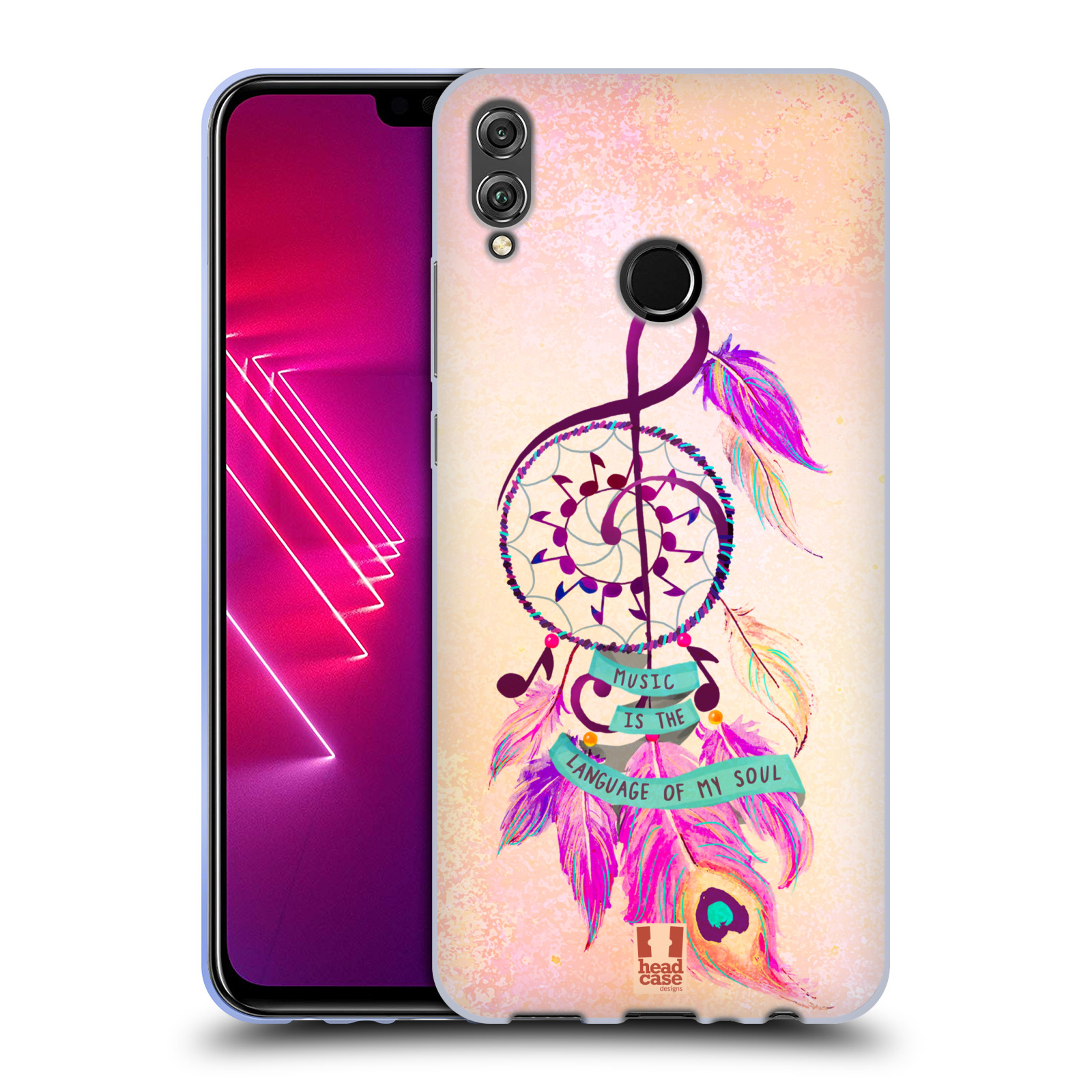 Silikonové pouzdro na mobil Honor View 10 Lite - Head Case - Lapač Assorted Music