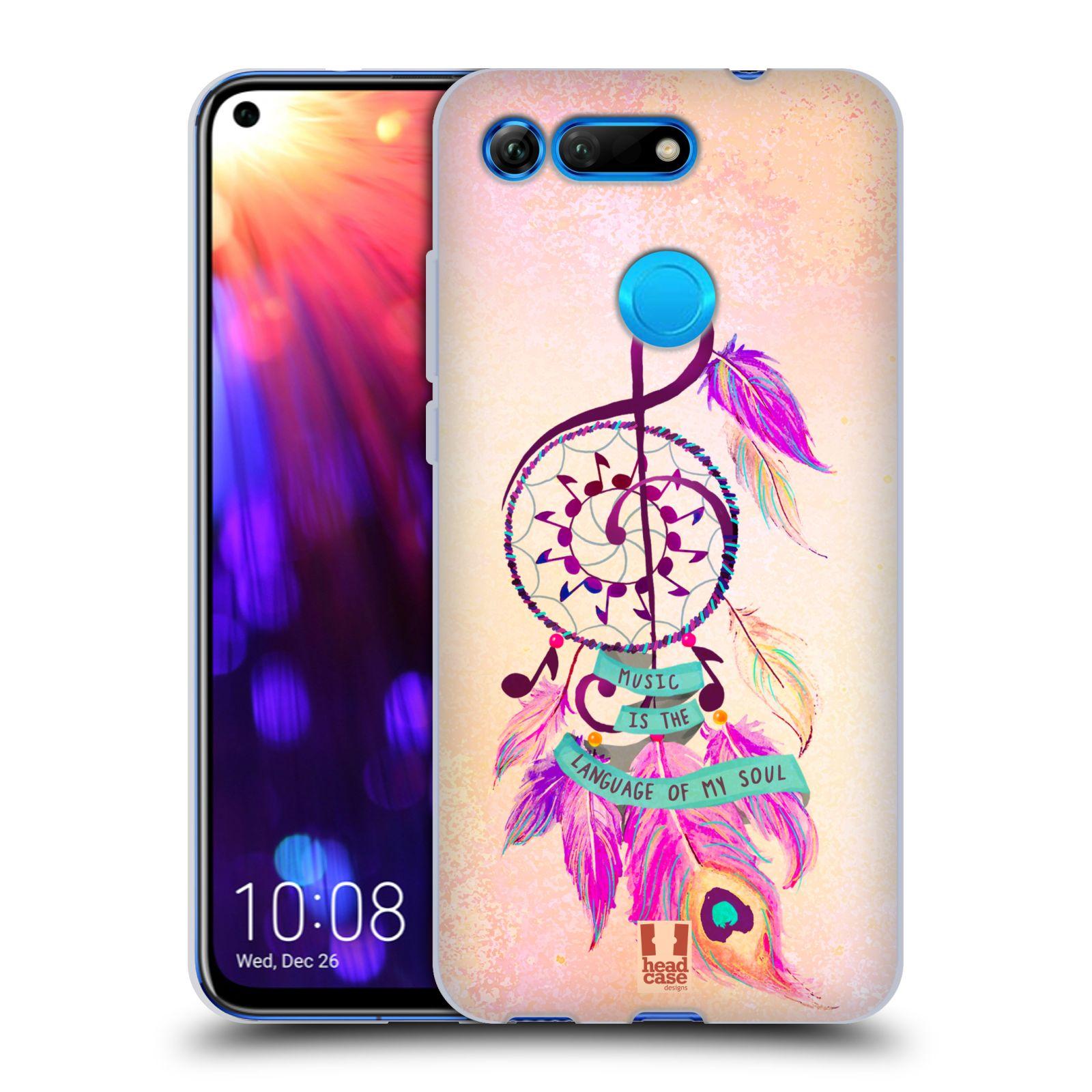 Silikonové pouzdro na mobil Honor View 20 - Head Case - Lapač Assorted Music