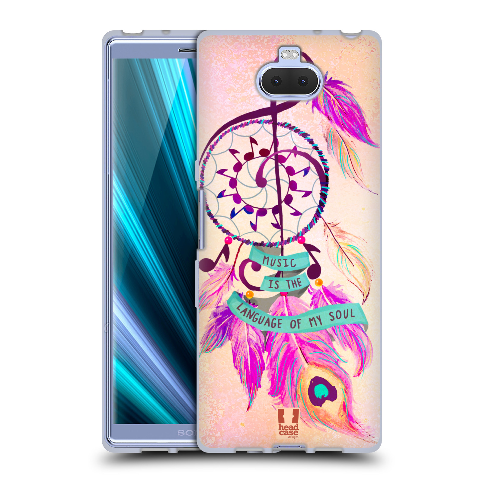 Silikonové pouzdro na mobil Sony Xperia 10 - Head Case - Lapač Assorted Music