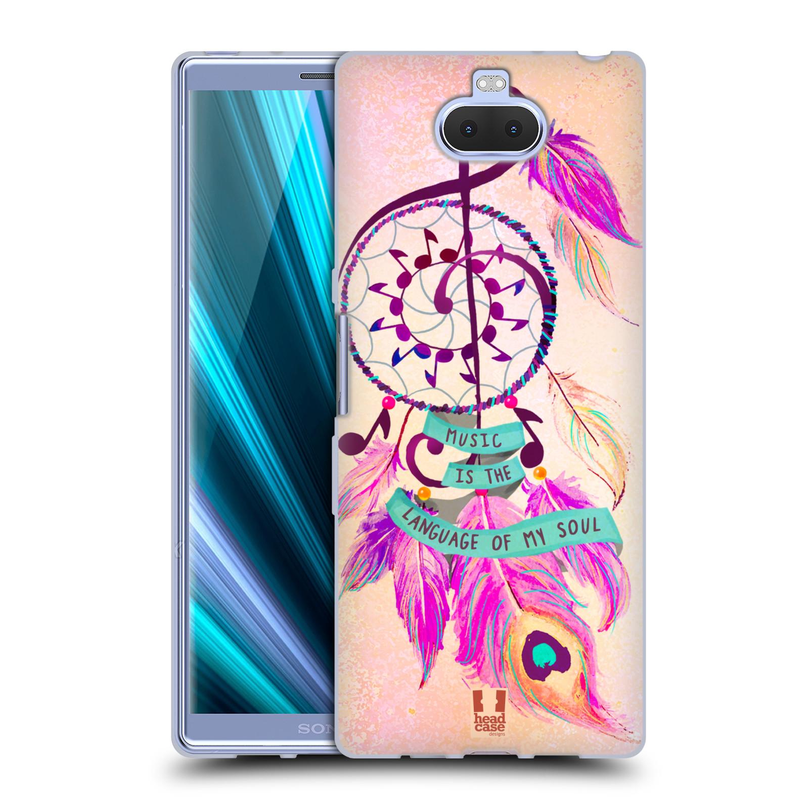 Silikonové pouzdro na mobil Sony Xperia 10 Plus - Head Case - Lapač Assorted Music