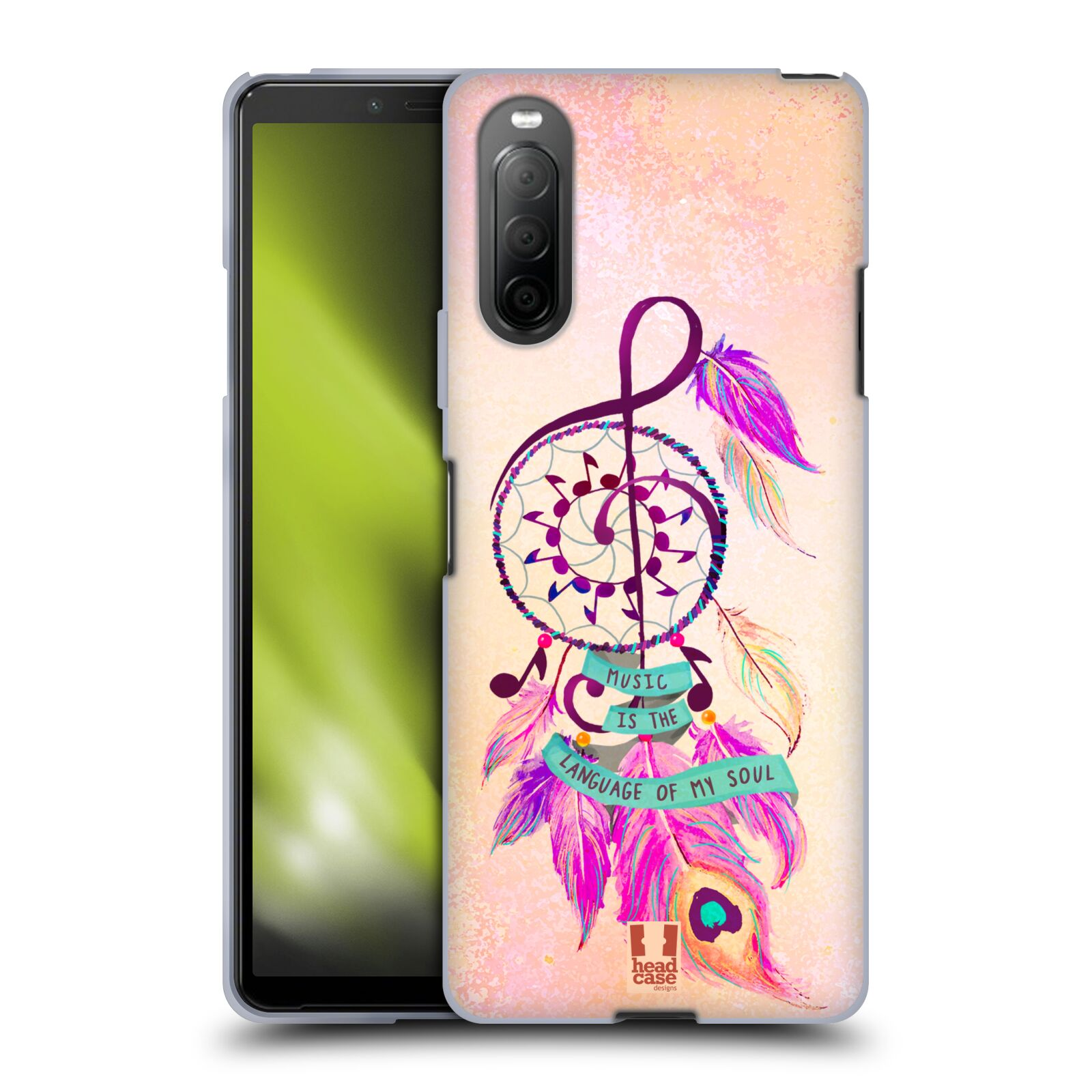 Silikonové pouzdro na mobil Sony Xperia 10 II - Head Case - Lapač Assorted Music