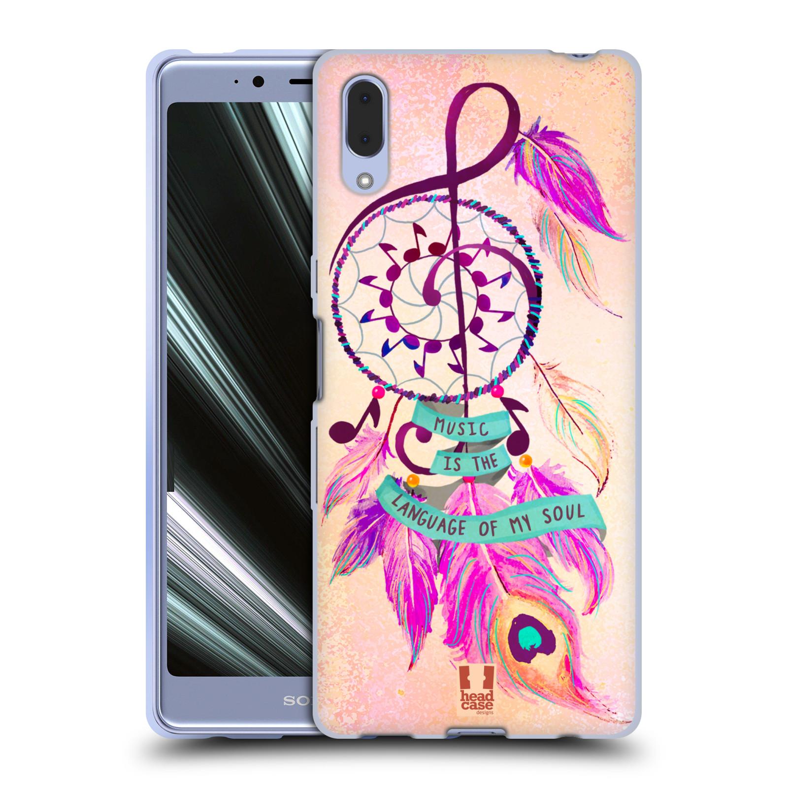 Silikonové pouzdro na mobil Sony Xperia L3 - Head Case - Lapač Assorted Music