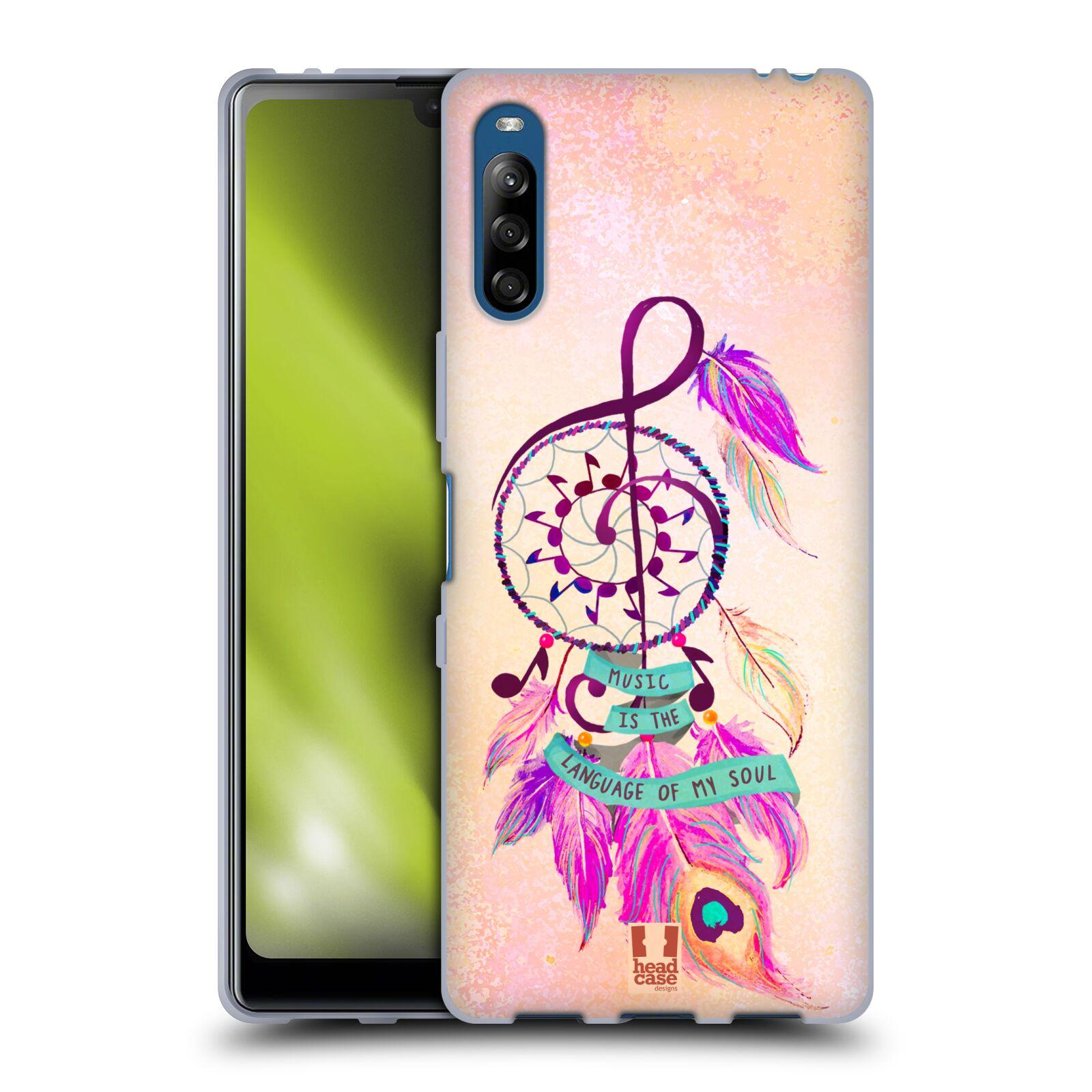 Silikonové pouzdro na mobil Sony Xperia L4 - Head Case - Lapač Assorted Music