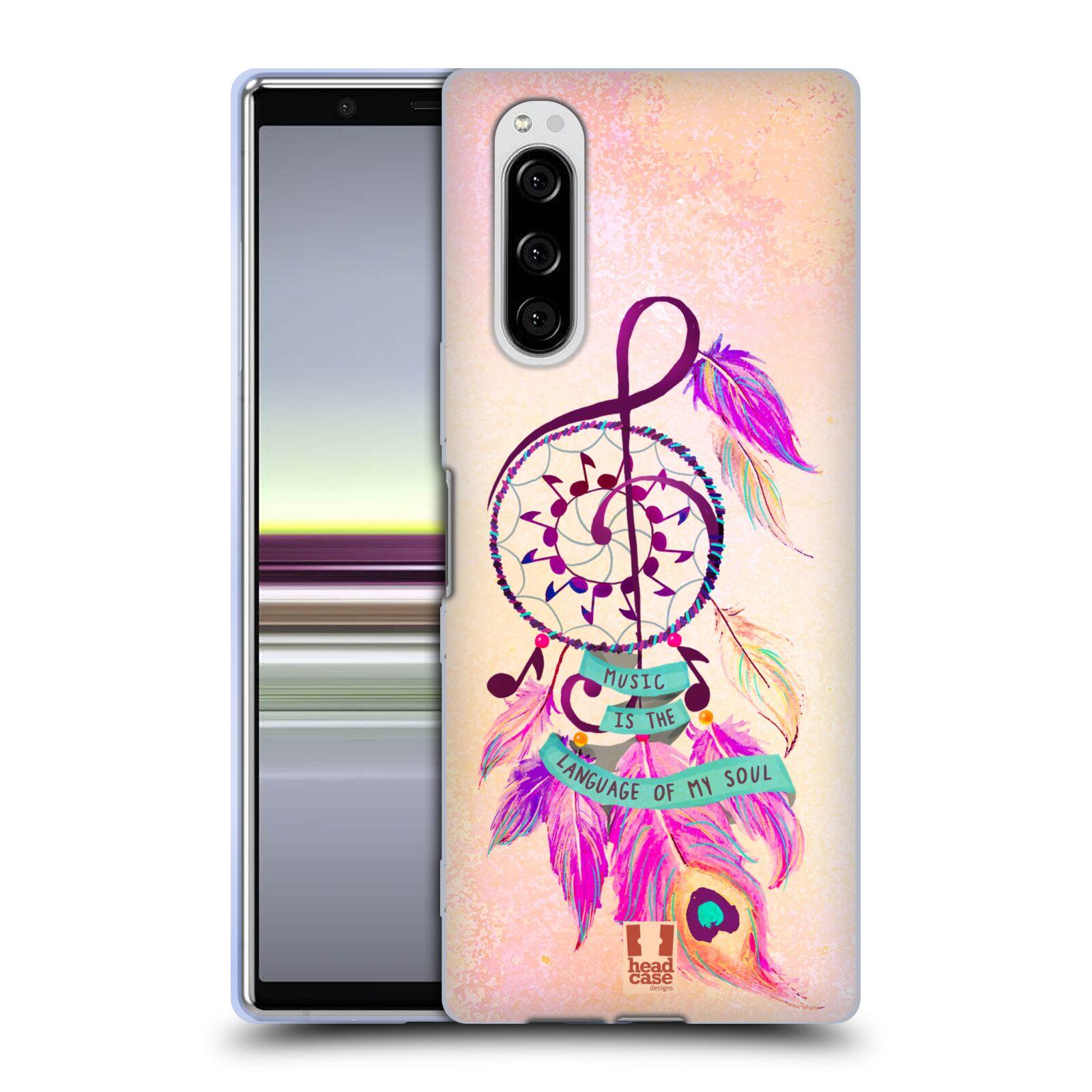 Silikonové pouzdro na mobil Sony Xperia 5 - Head Case - Lapač Assorted Music