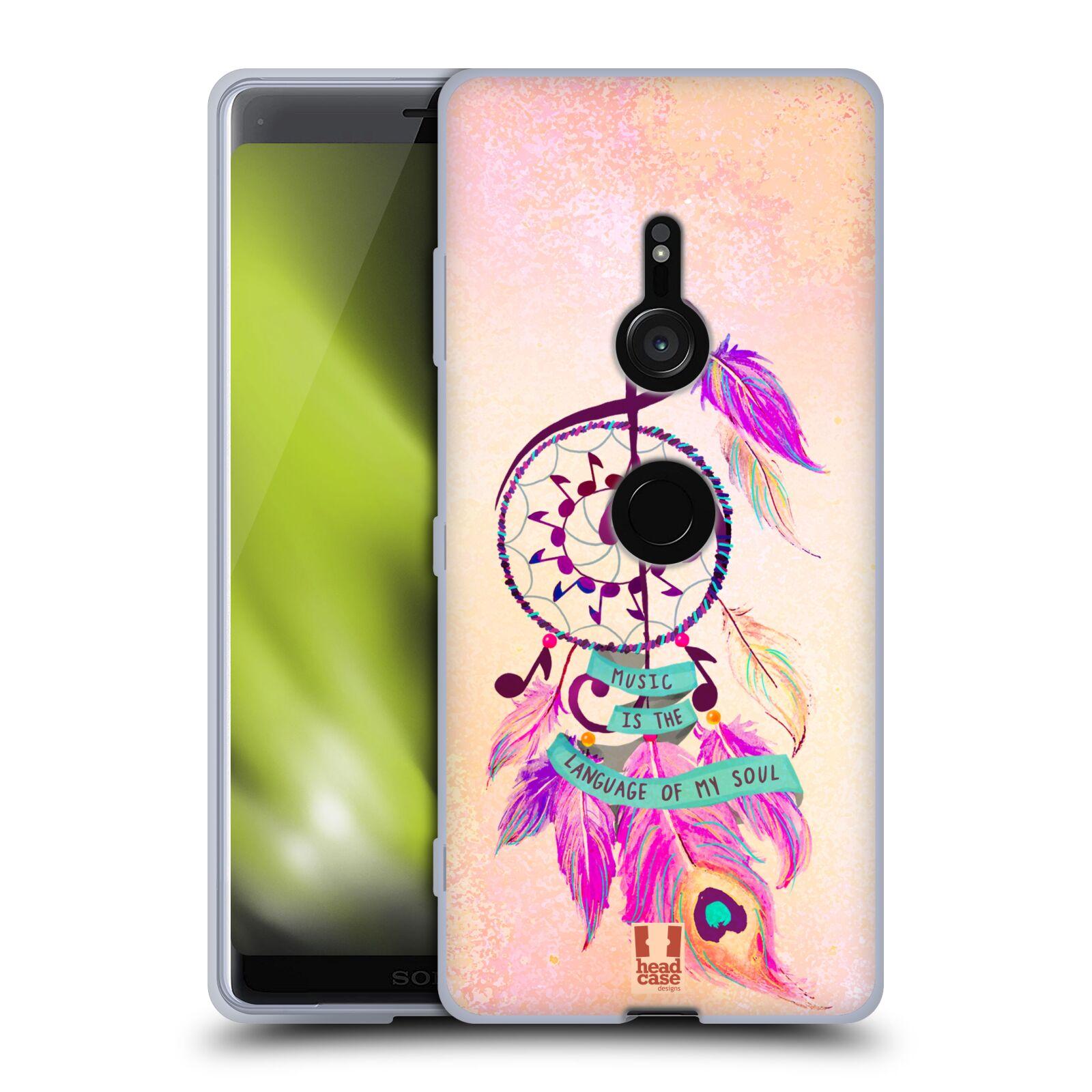 Silikonové pouzdro na mobil Sony Xperia XZ3 - Head Case - Lapač Assorted Music