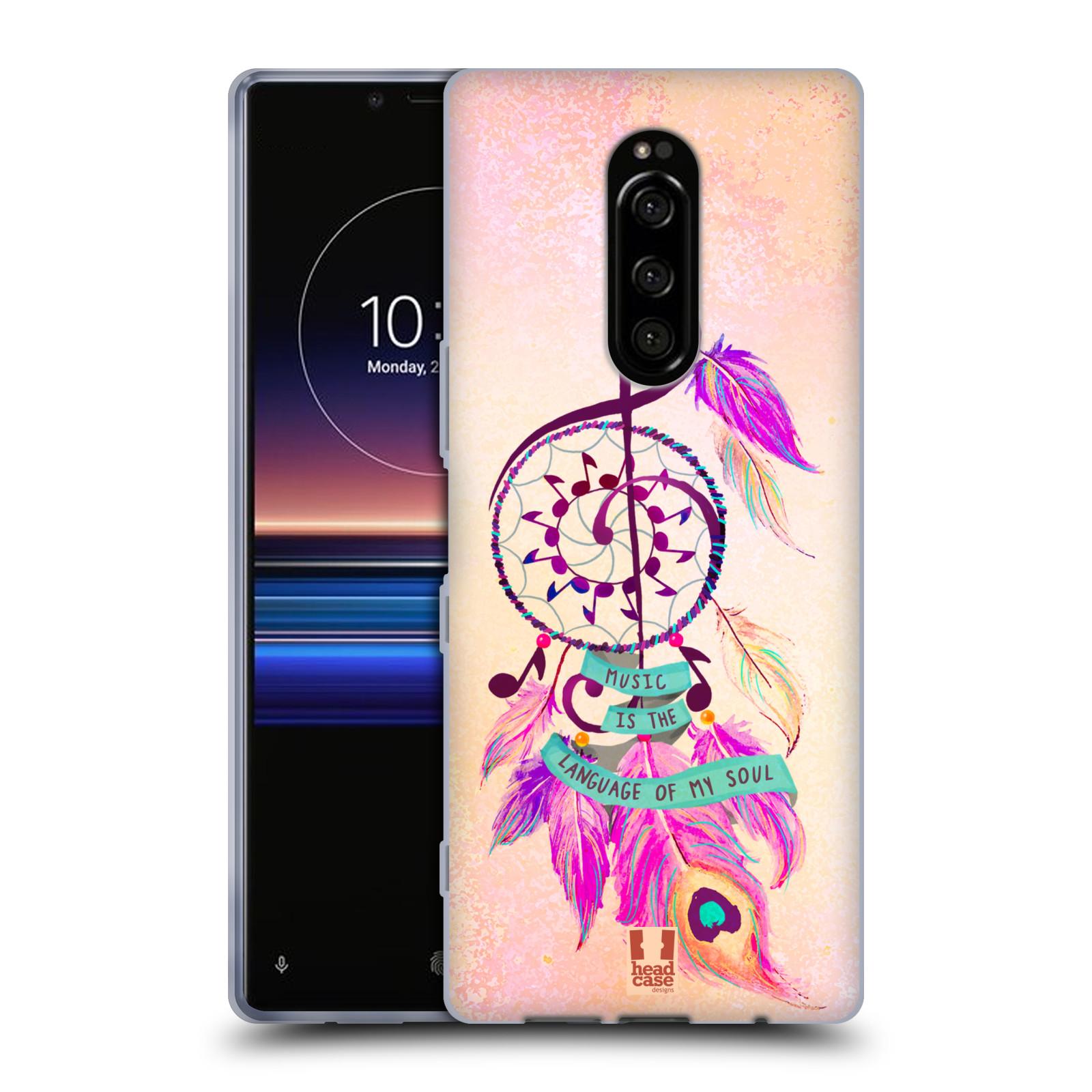 Silikonové pouzdro na mobil Sony Xperia 1 - Head Case - Lapač Assorted Music