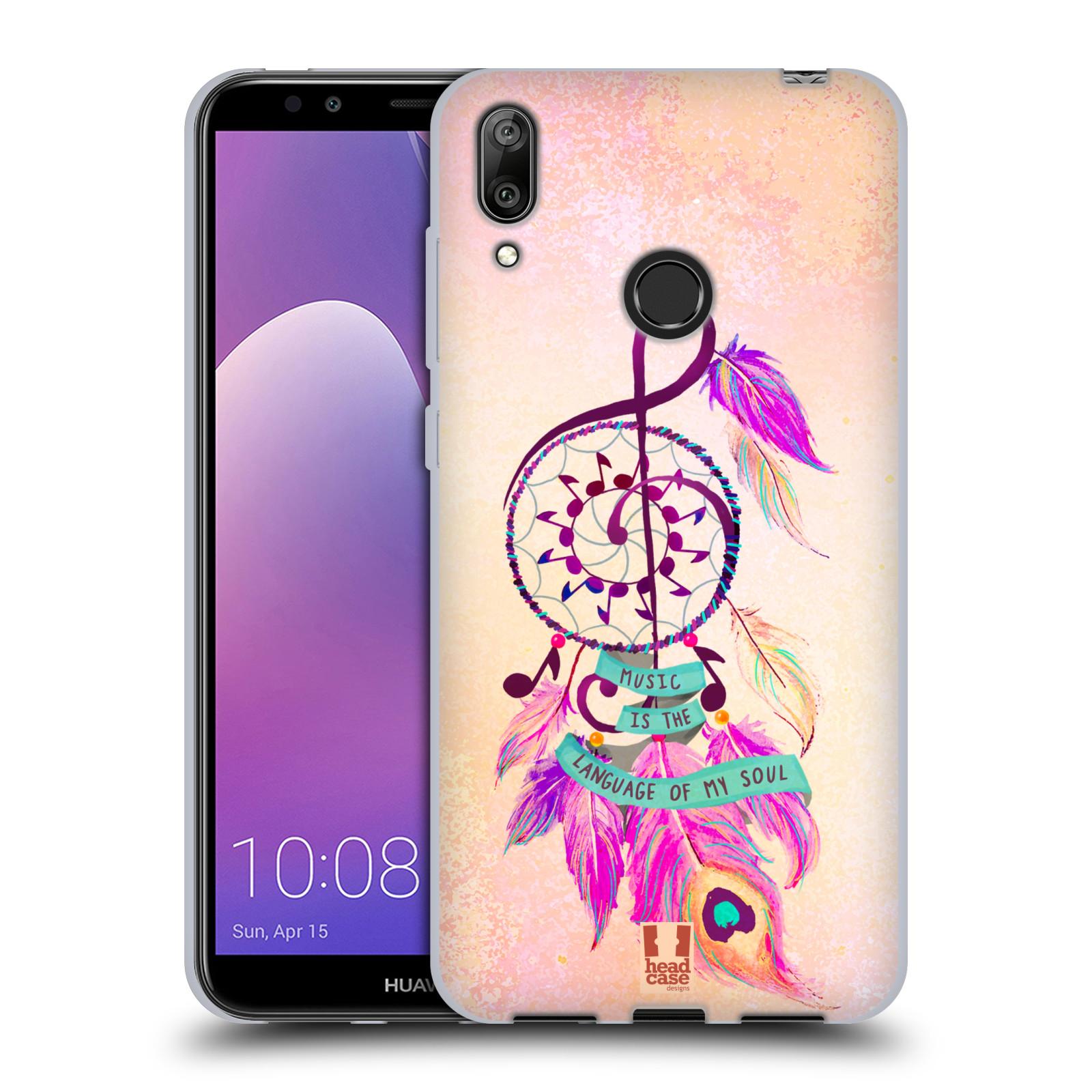 Silikonové pouzdro na mobil Huawei Y7 (2019) - Head Case - Lapač Assorted Music