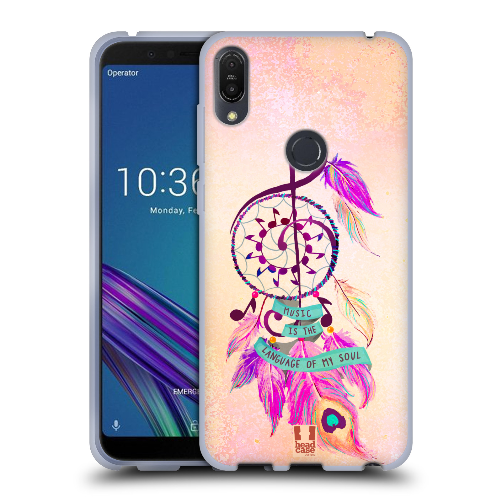 Silikonové pouzdro na mobil Asus ZenFone Max Pro (M1) - Head Case - Lapač Assorted Music