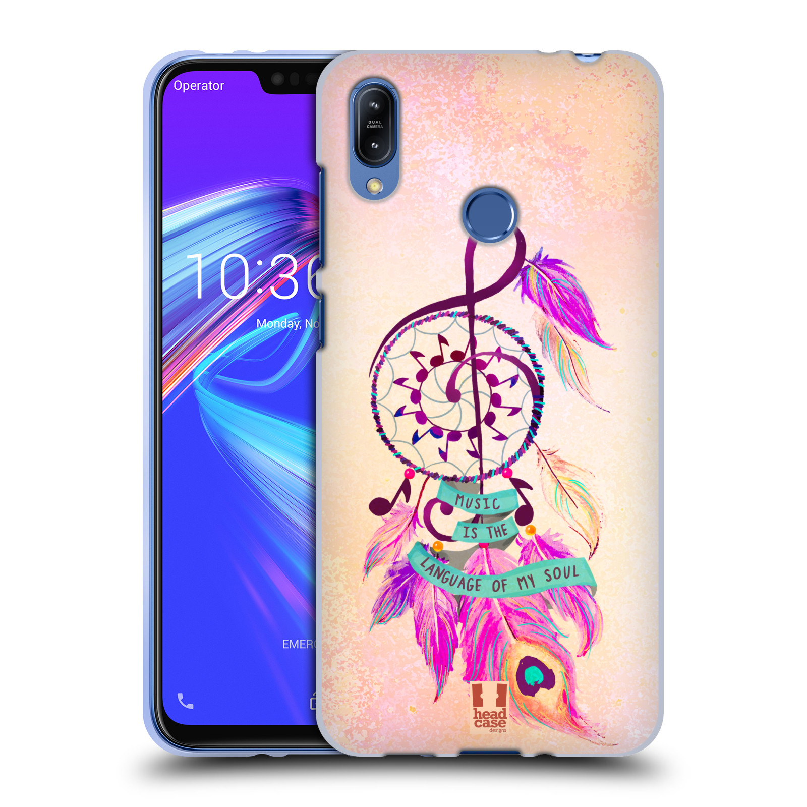 Silikonové pouzdro na mobil Asus Zenfone Max (M2) ZB633KL - Head Case - Lapač Assorted Music