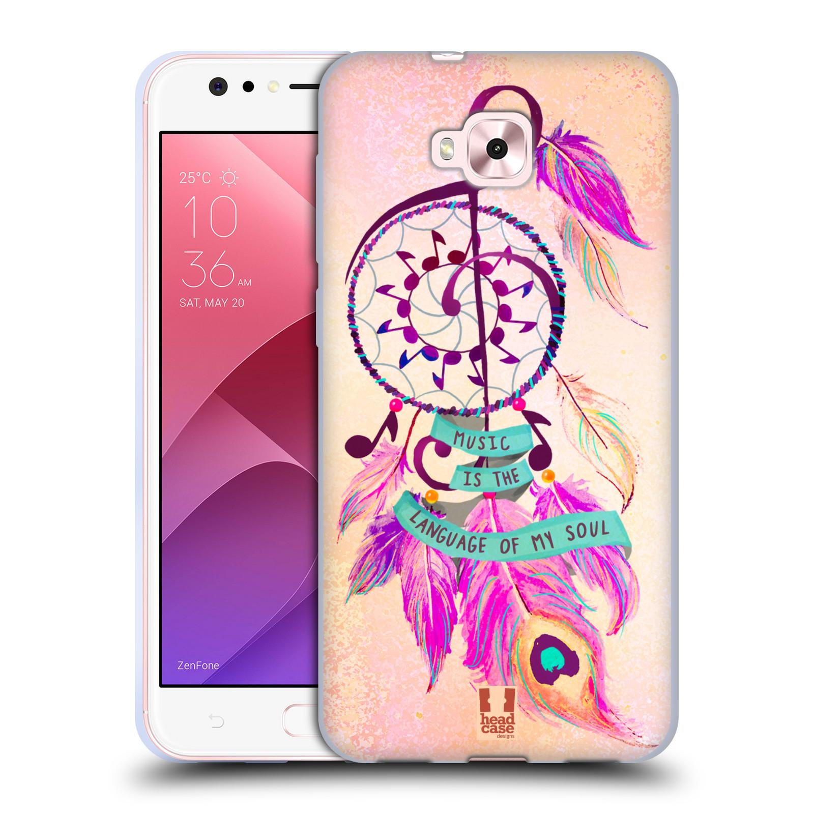 Silikonové pouzdro na mobil Asus Zenfone 4 Selfie ZD553KL - Head Case - Lapač Assorted Music