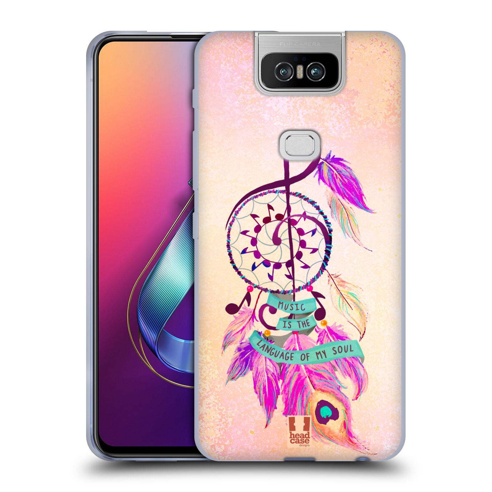 Silikonové pouzdro na mobil Asus Zenfone 6 ZS630KL - Head Case - Lapač Assorted Music