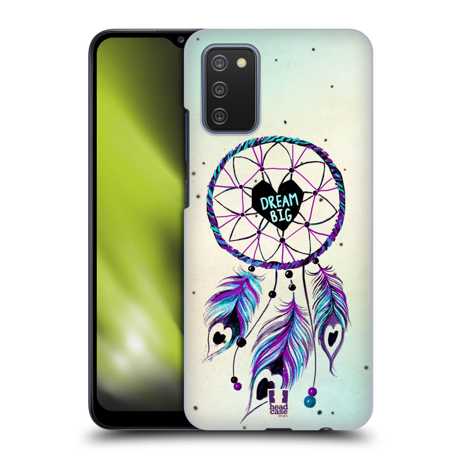 Plastové pouzdro na mobil Samsung Galaxy A02s - Head Case - Lapač Assorted Dream Big Srdce