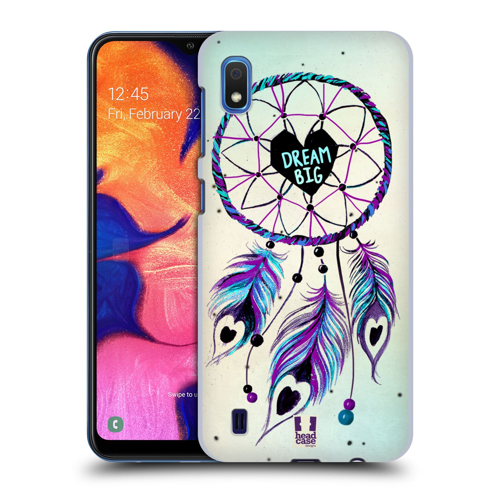 Plastové pouzdro na mobil Samsung Galaxy A10 - Head Case - Lapač Assorted Dream Big Srdce