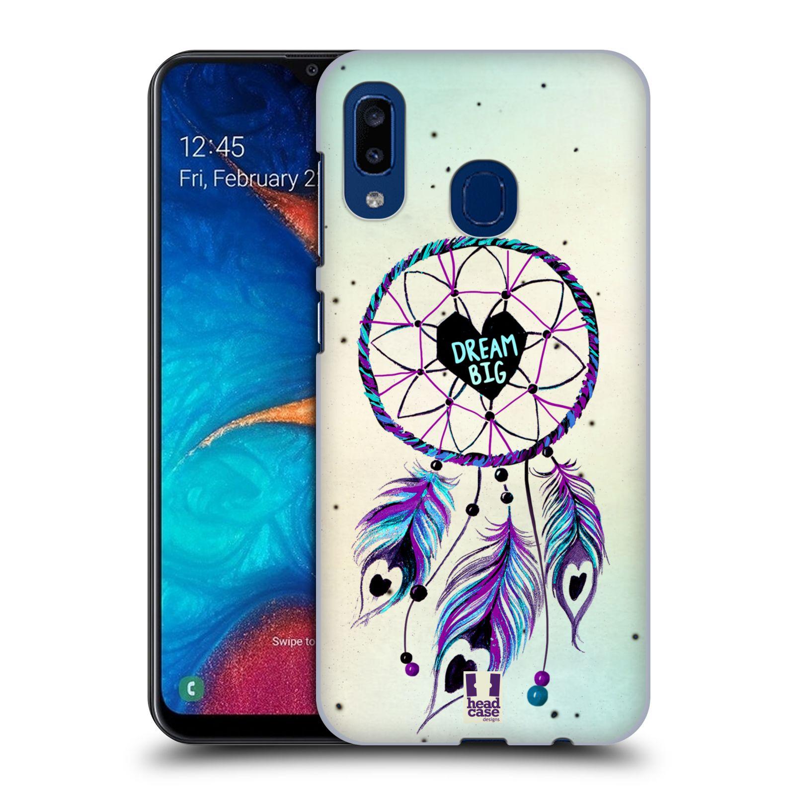 Plastové pouzdro na mobil Samsung Galaxy A20 - Head Case - Lapač Assorted Dream Big Srdce
