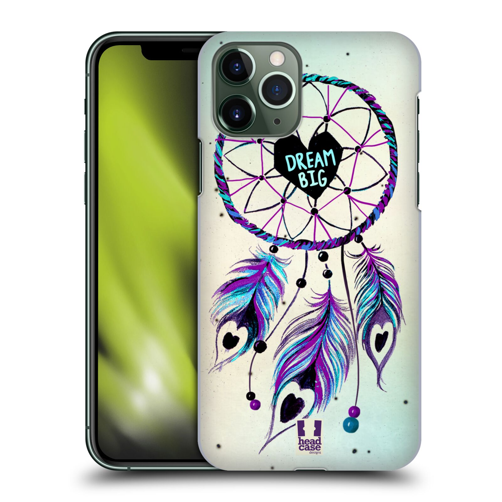 Plastové pouzdro na mobil Apple iPhone 11 Pro - Head Case - Lapač Assorted Dream Big Srdce