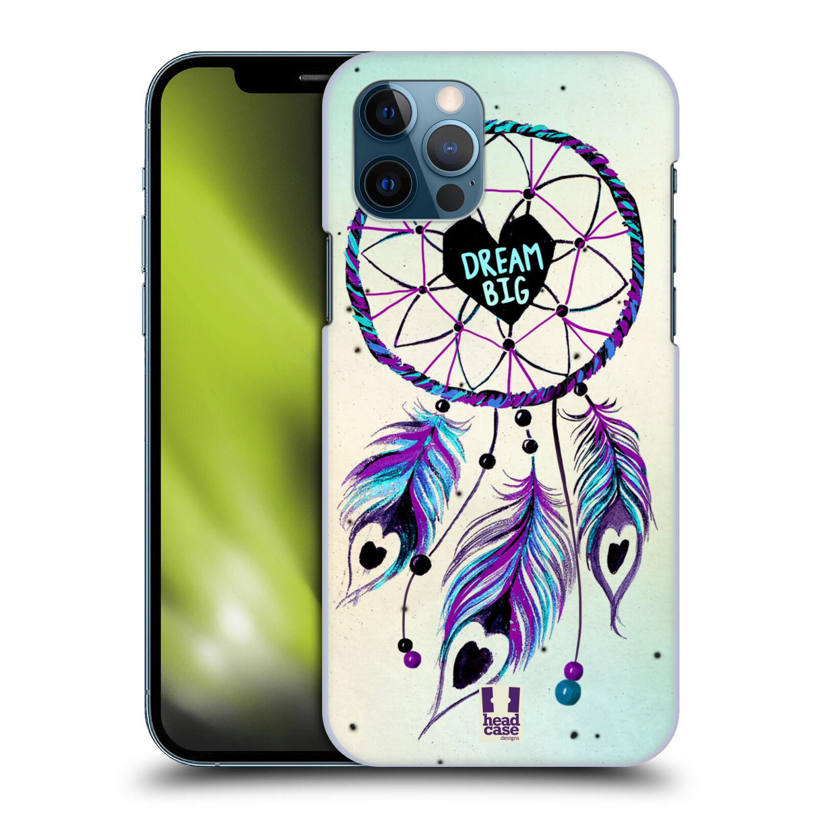 Plastové pouzdro na mobil Apple iPhone 12 / 12 Pro - Head Case - Lapač Assorted Dream Big Srdce