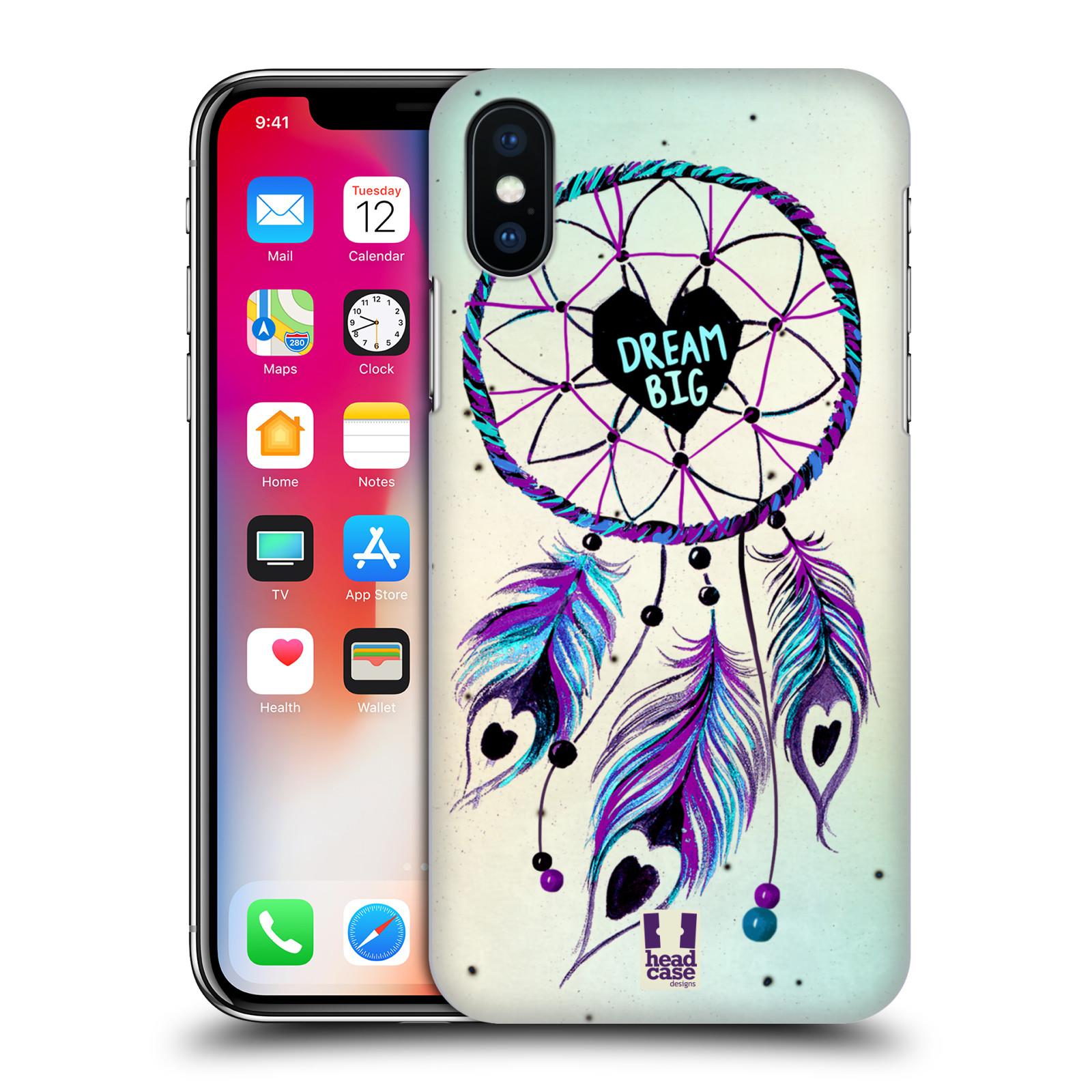 Plastové pouzdro na mobil Apple iPhone X - Head Case - Lapač Assorted Dream  Big Srdce fa2a3b60061