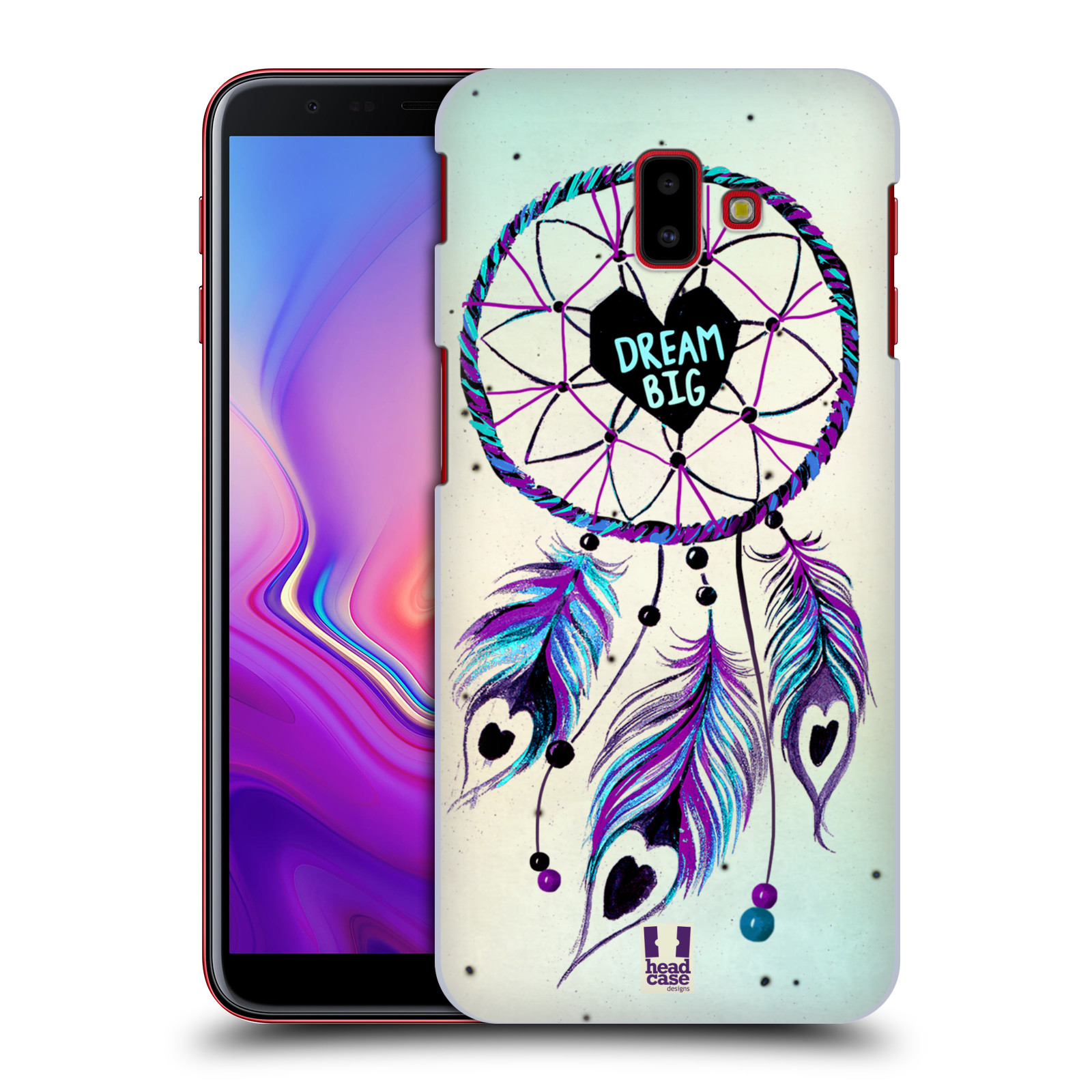 Plastové pouzdro na mobil Samsung Galaxy J6 Plus - Head Case - Lapač Assorted Dream Big Srdce