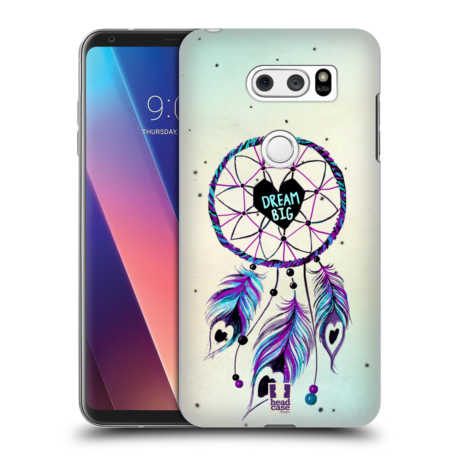 Plastové pouzdro na mobil LG V30 - Head Case - Lapač Assorted Dream Big Srdce