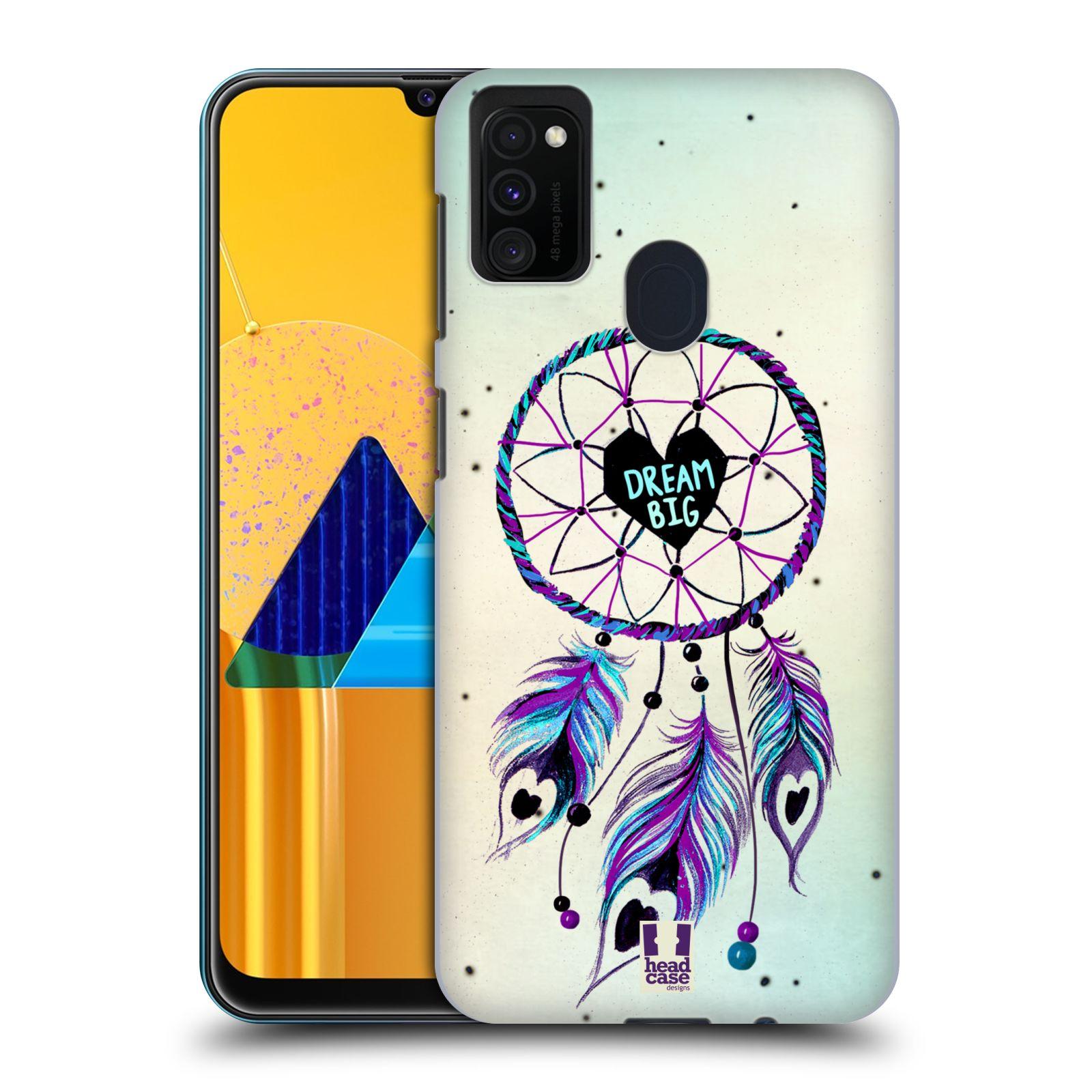 Plastové pouzdro na mobil Samsung Galaxy M21 - Head Case - Lapač Assorted Dream Big Srdce