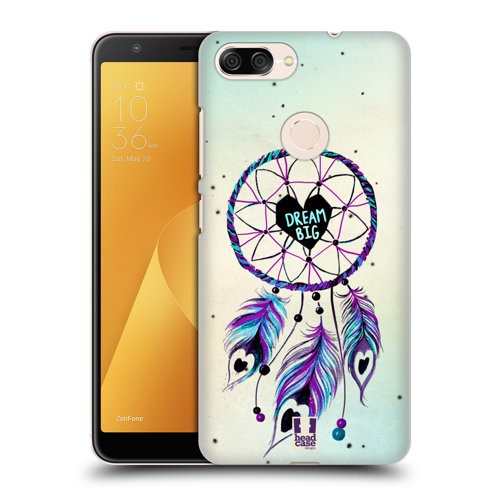 Plastové pouzdro na mobil Asus ZenFone Max Plus (M1) - Head Case - Lapač Assorted Dream Big Srdce