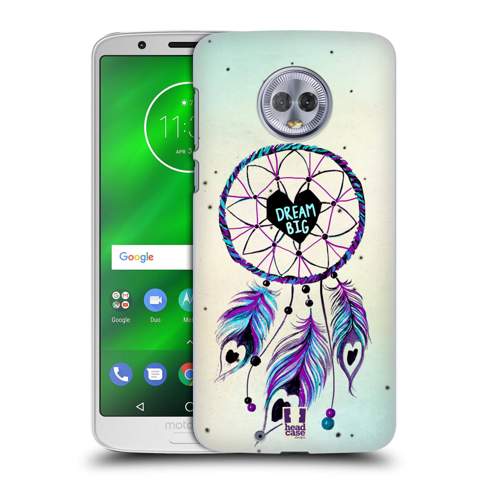 Plastové pouzdro na mobil Motorola Moto G6 - Head Case - Lapač Assorted Dream Big Srdce