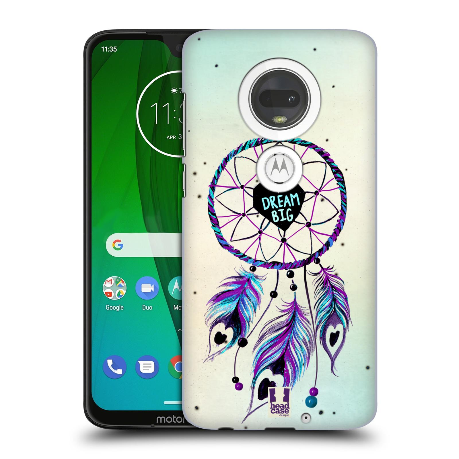 Plastové pouzdro na mobil Motorola Moto G7 - Head Case - Lapač Assorted Dream Big Srdce