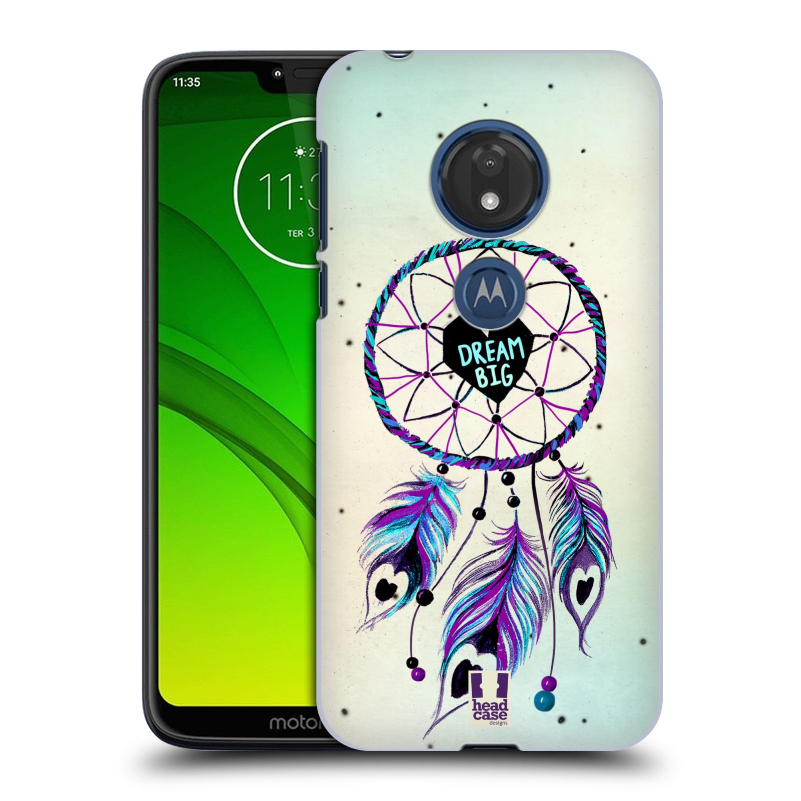 Plastové pouzdro na mobil Motorola Moto G7 Play - Head Case - Lapač Assorted Dream Big Srdce