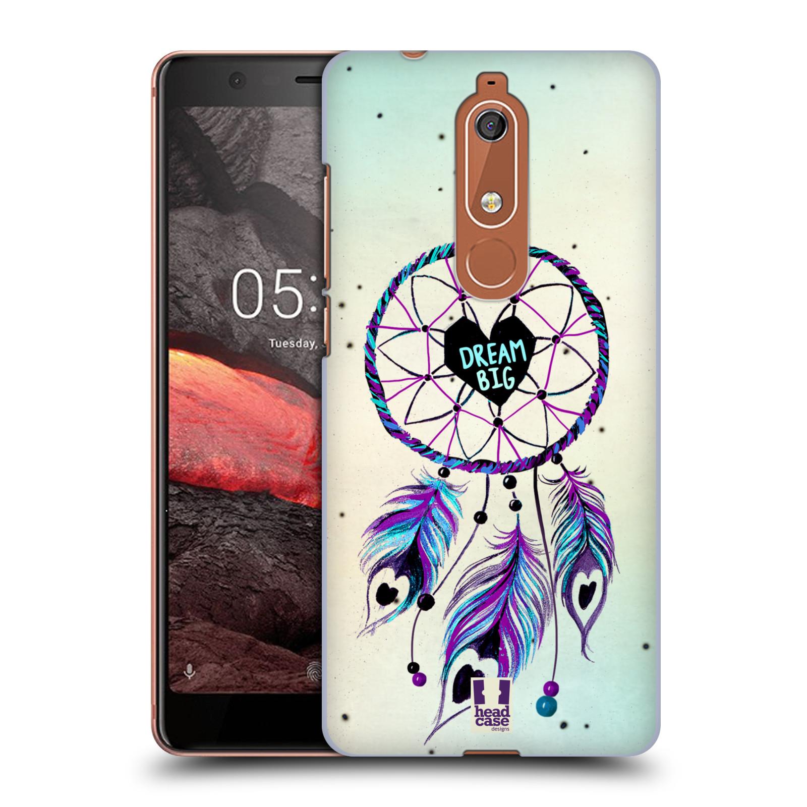 Plastové pouzdro na mobil Nokia 5.1 - Head Case - Lapač Assorted Dream Big Srdce