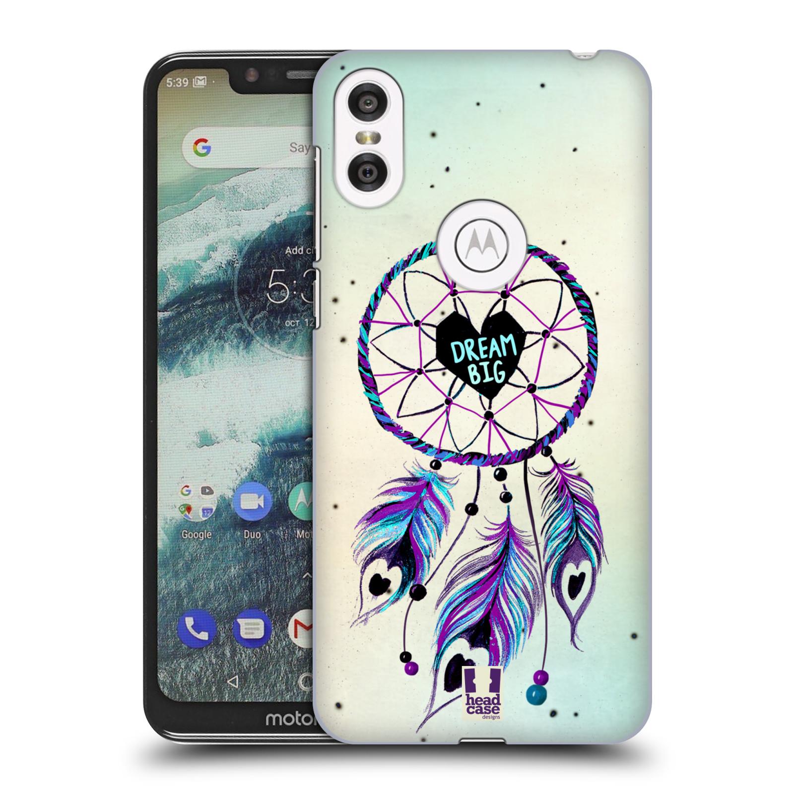 Plastové pouzdro na mobil Motorola One - Head Case - Lapač Assorted Dream Big Srdce