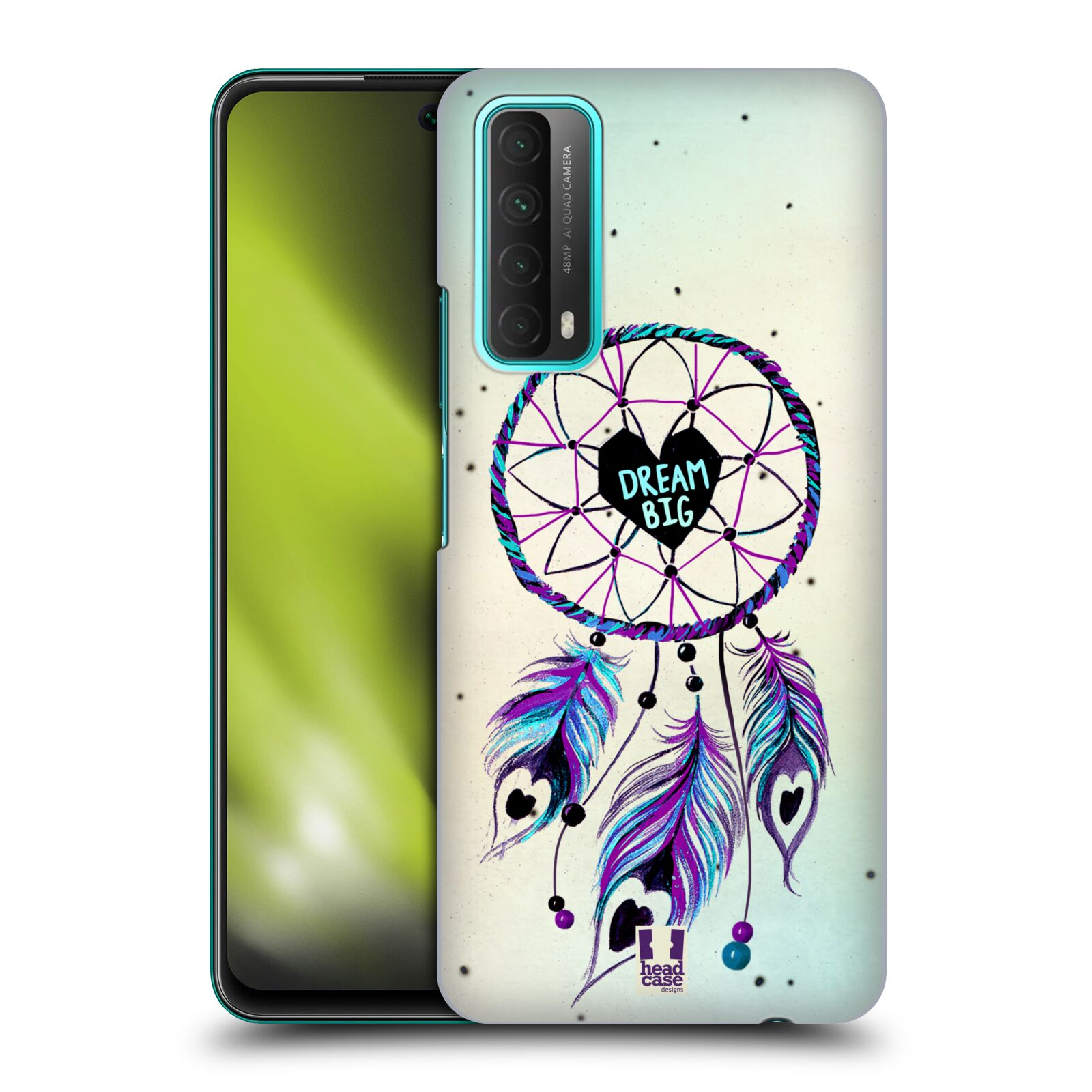 Plastové pouzdro na mobil Huawei P Smart (2021) - Head Case - Lapač Assorted Dream Big Srdce