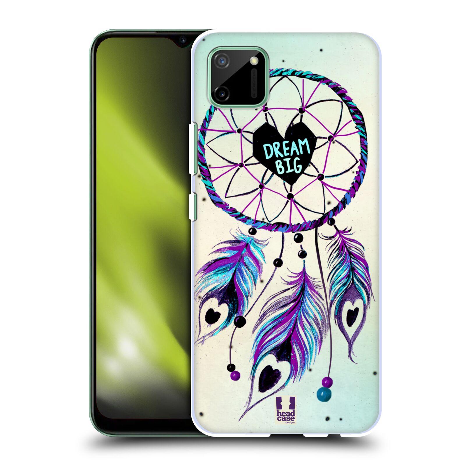 Plastové pouzdro na mobil Realme C11 - Head Case - Lapač Assorted Dream Big Srdce