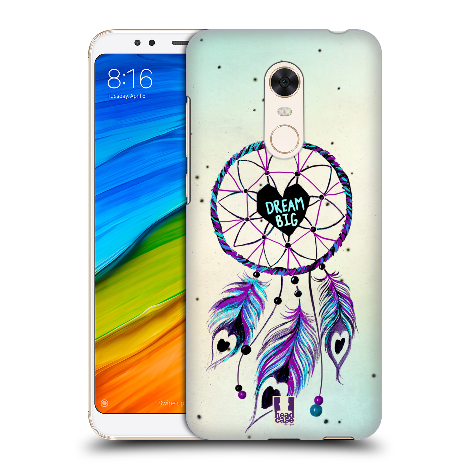 Plastové pouzdro na mobil Xiaomi Redmi 5 Plus - Head Case - Lapač Assorted Dream Big Srdce