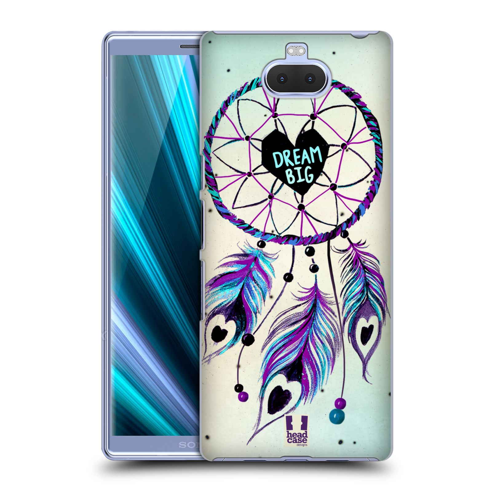 Plastové pouzdro na mobil Sony Xperia 10 - Head Case - Lapač Assorted Dream Big Srdce