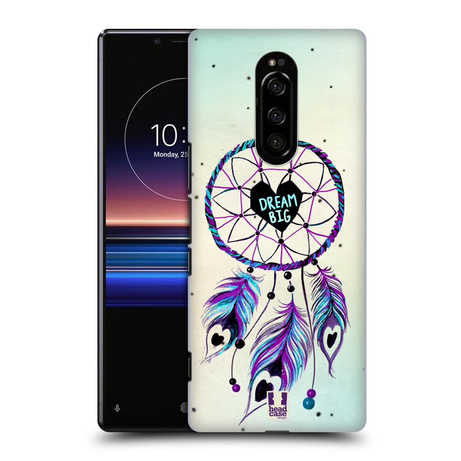 Plastové pouzdro na mobil Sony Xperia 1 - Head Case - Lapač Assorted Dream Big Srdce